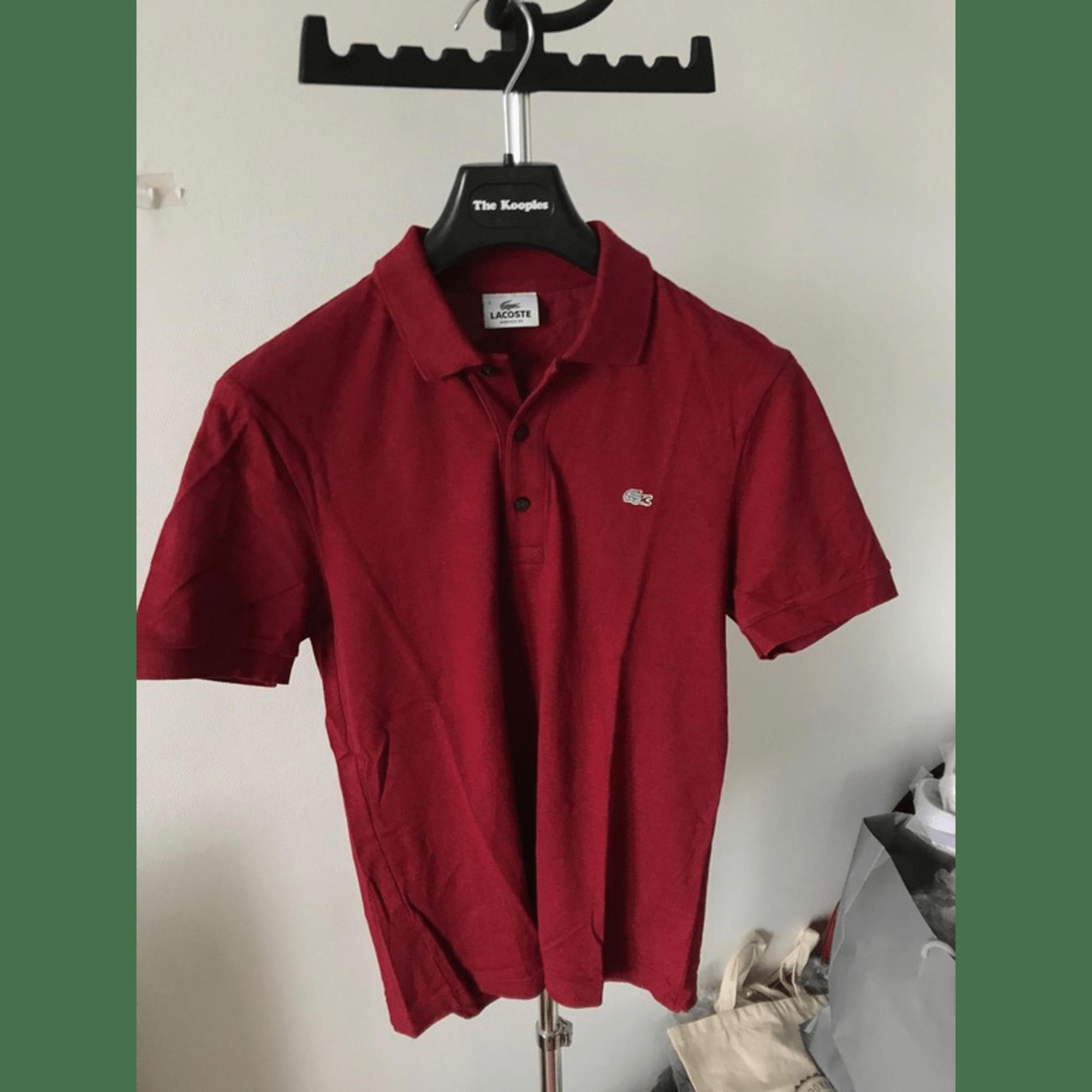 Polo LACOSTE Rouge, bordeaux
