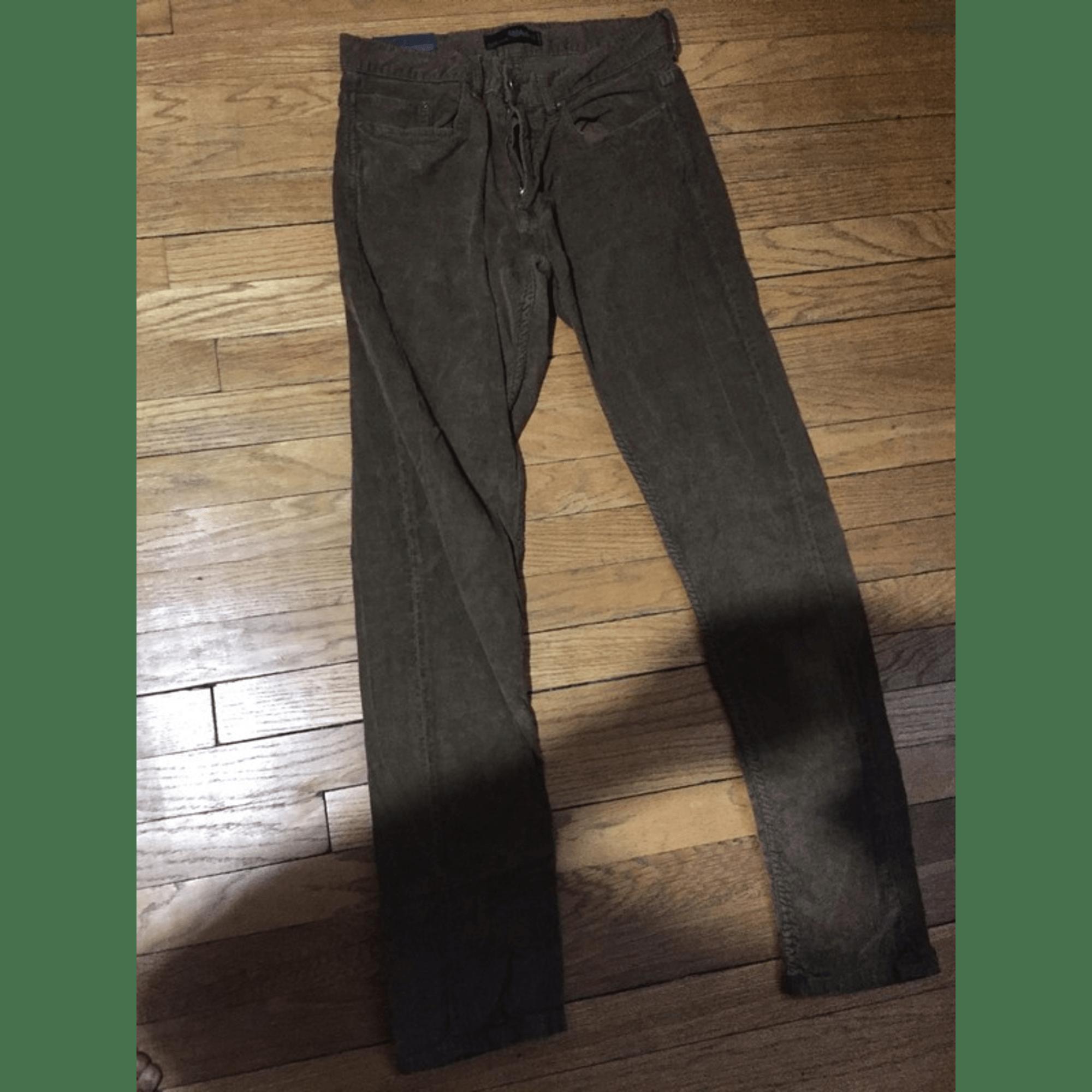Jeans slim ZARA Marron