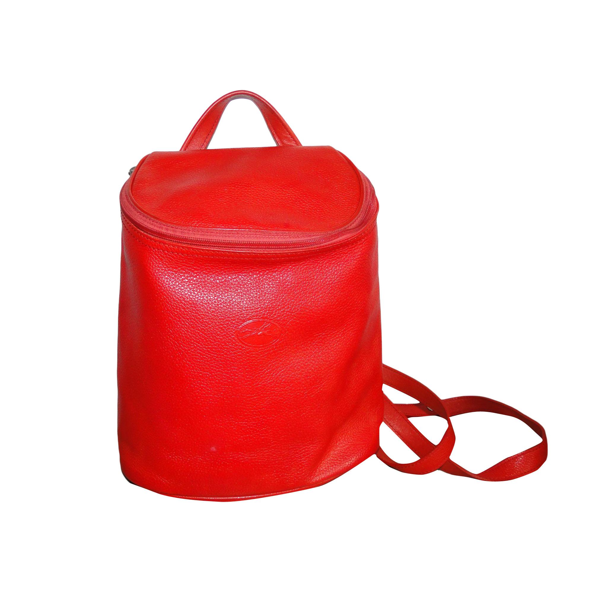 Backpack LONGCHAMP Red, burgundy