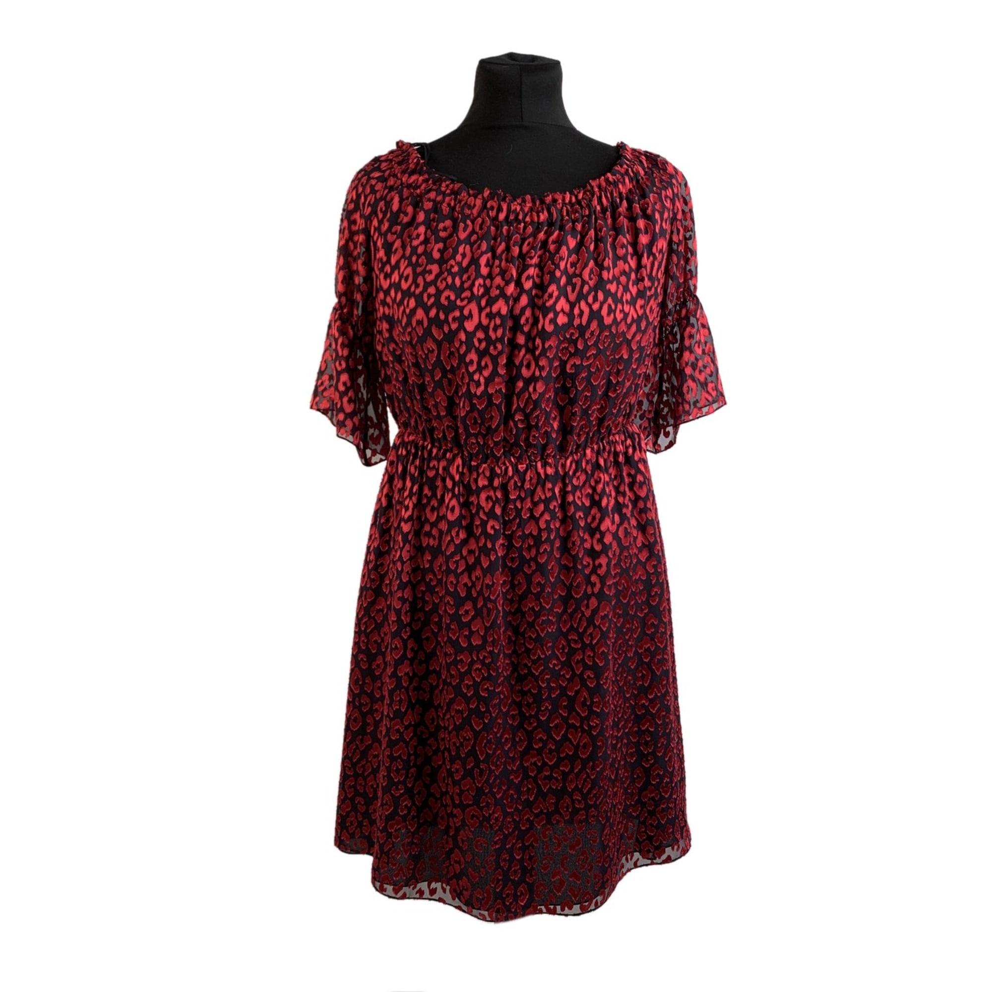 Robe courte YVES SAINT LAURENT Rouge, bordeaux