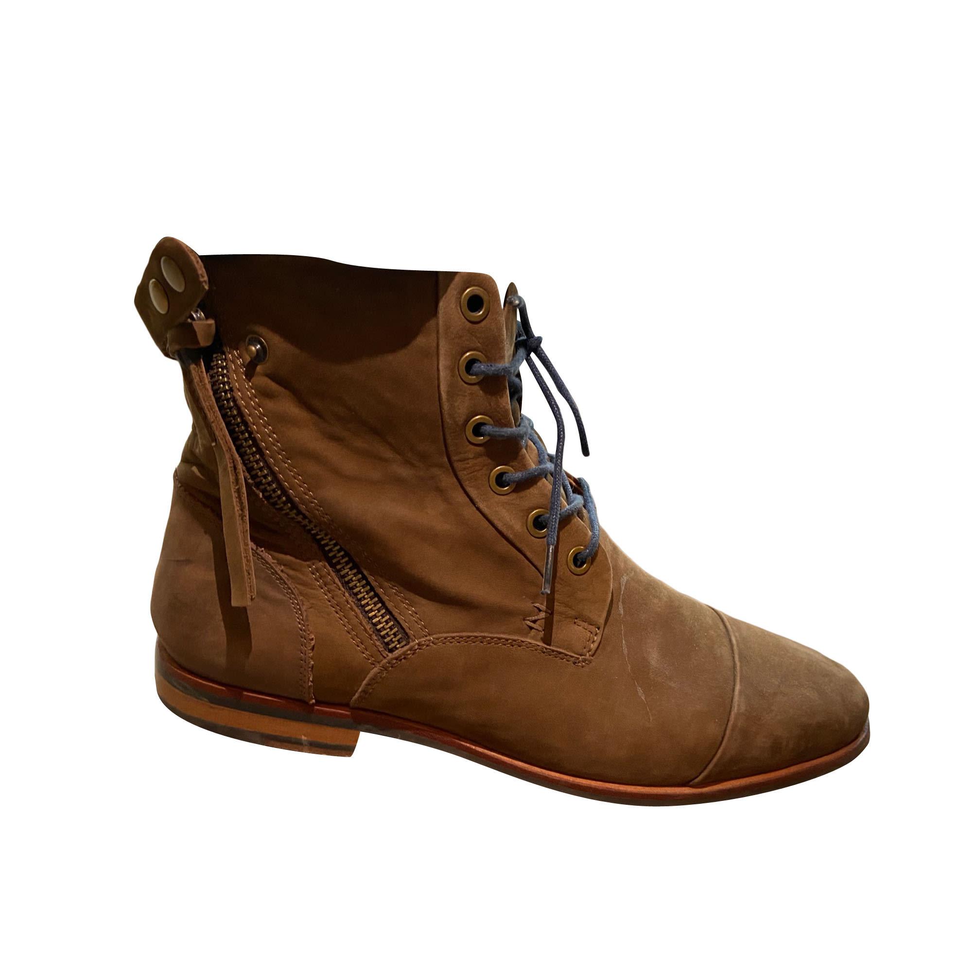 Chaussures à lacets SCHMOOVE Marron
