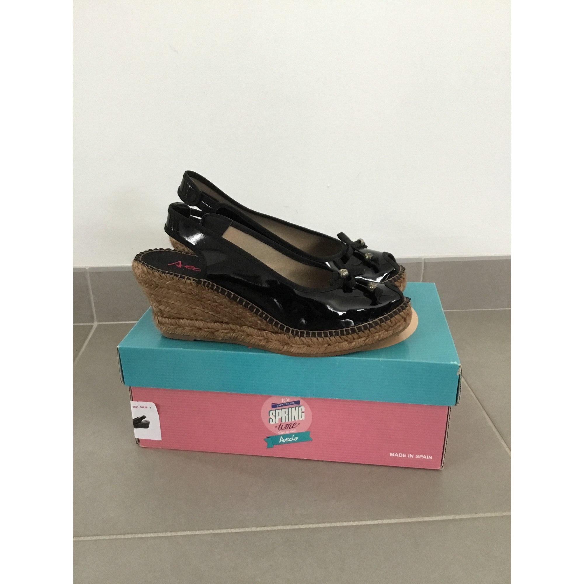 Sandales compensées AEDO Noir