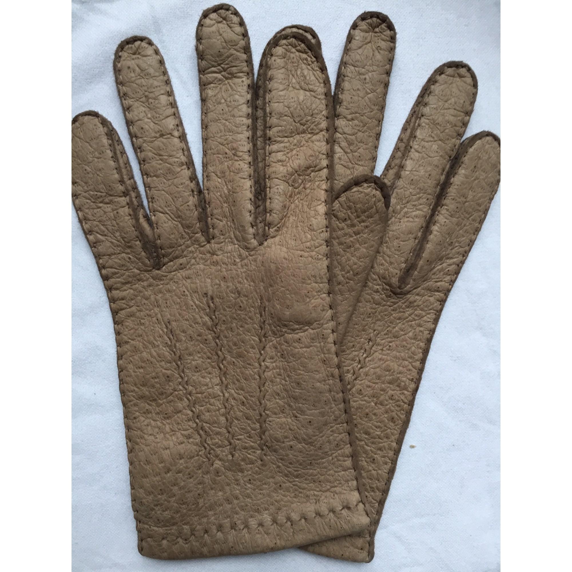 Handschuhe MAISON FABRE Beige