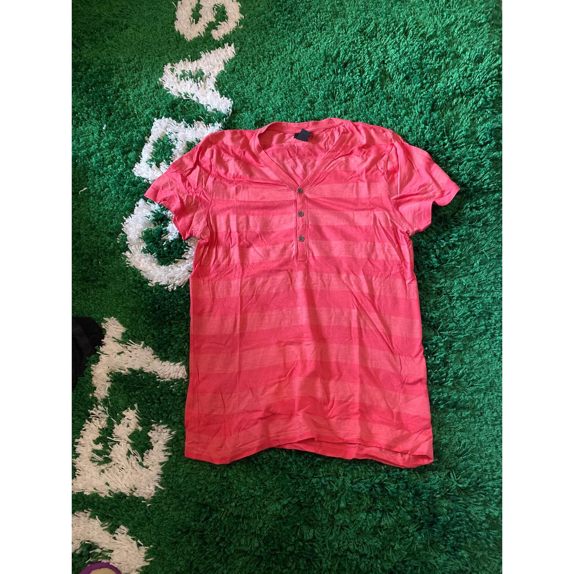 Tee-shirt H&M Rose, fuschia, vieux rose