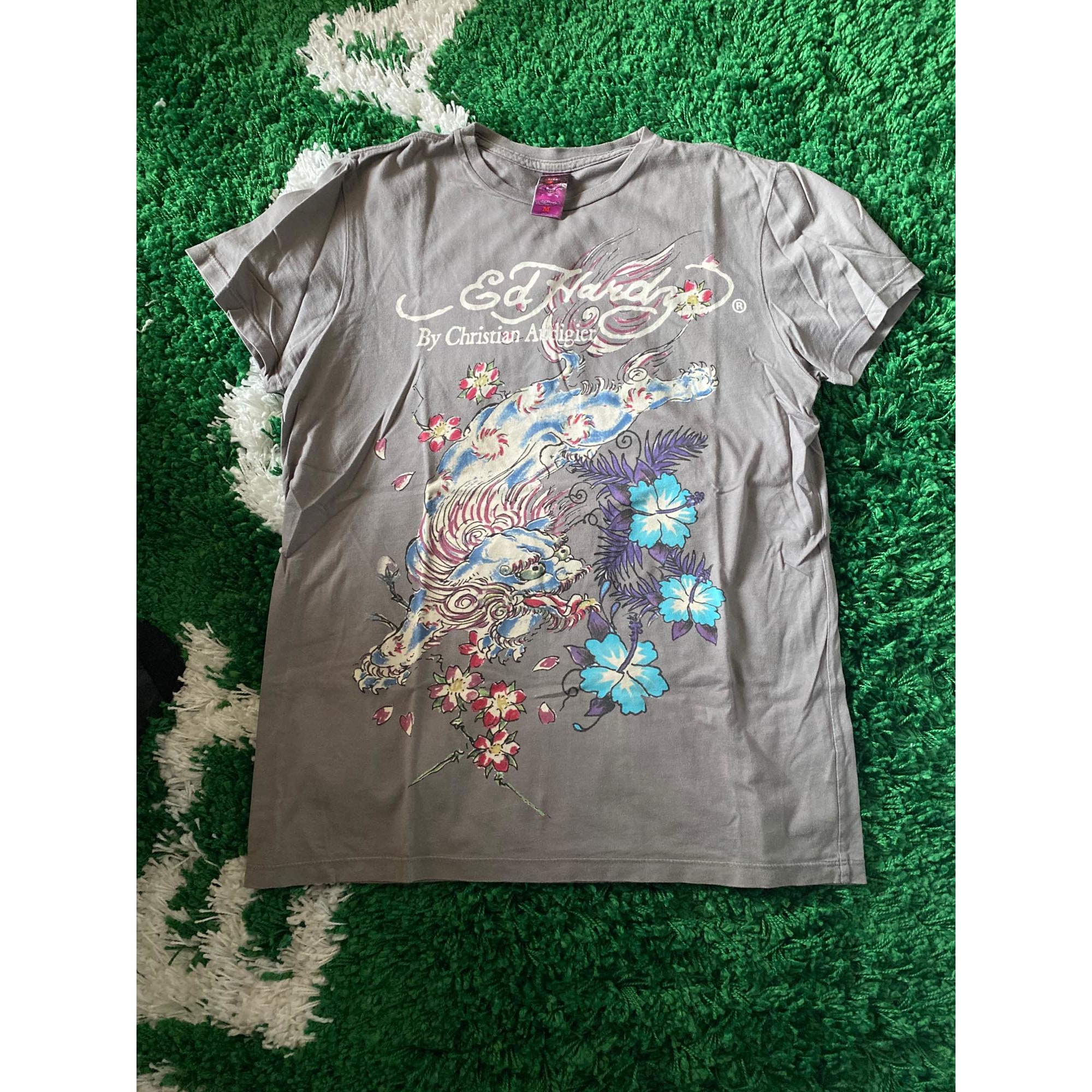 Tee-shirt ED HARDY Gris, anthracite