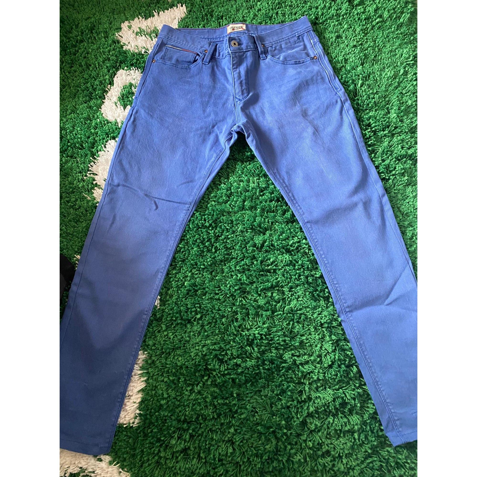 Pantalon slim TOMMY HILFIGER Bleu, bleu marine, bleu turquoise