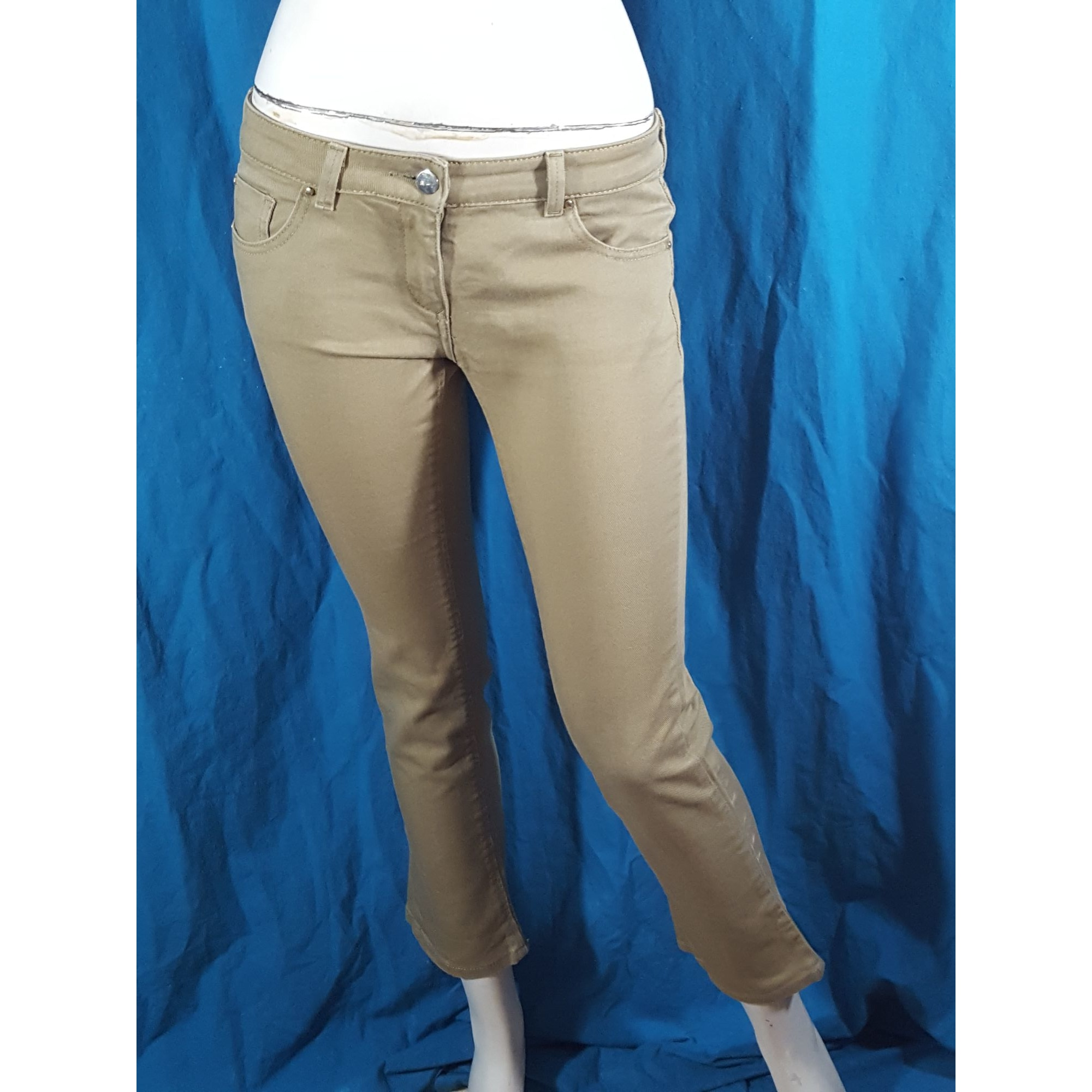Jeans droit BARBARA BUI Beige, camel