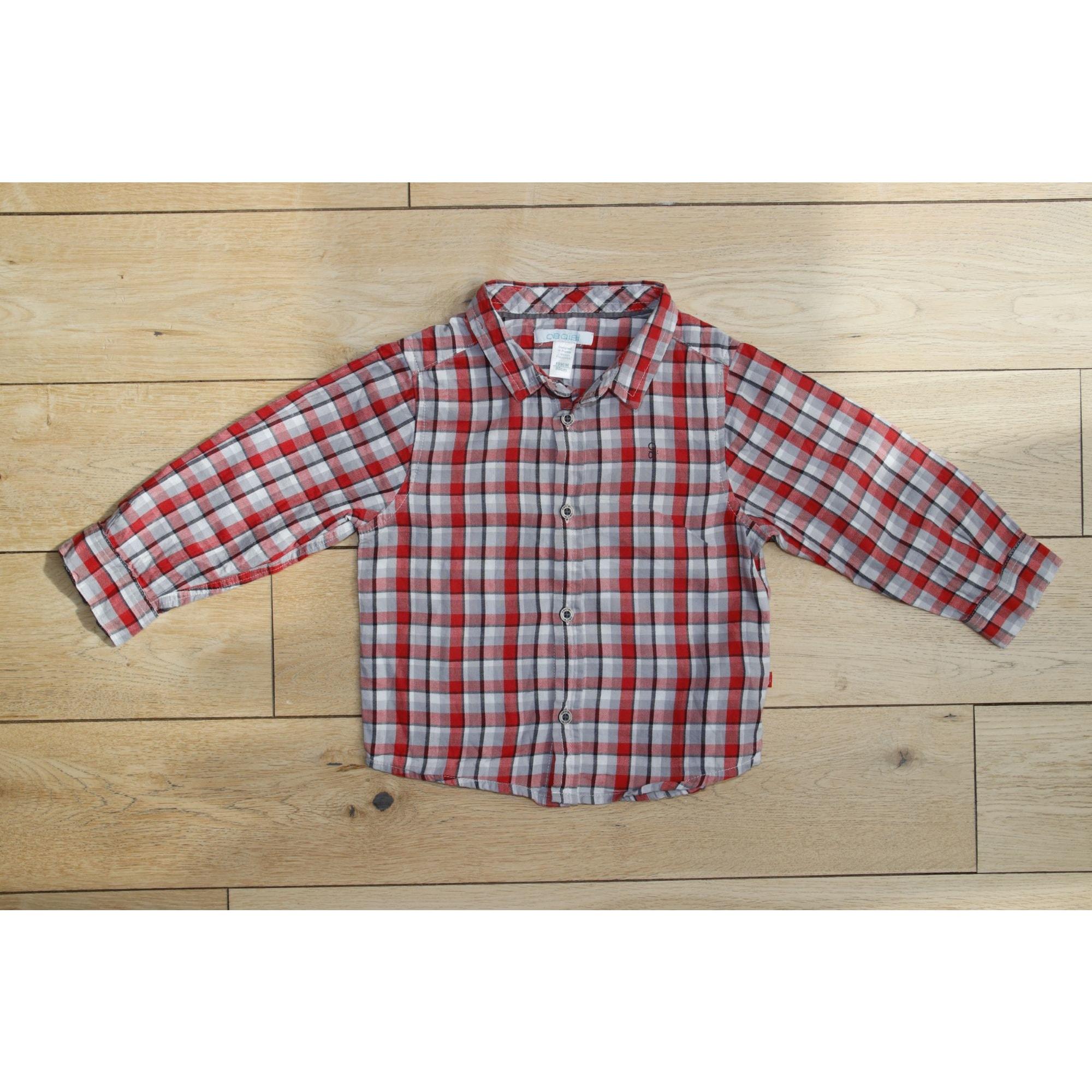 Chemise OKAÏDI Rouge, bordeaux