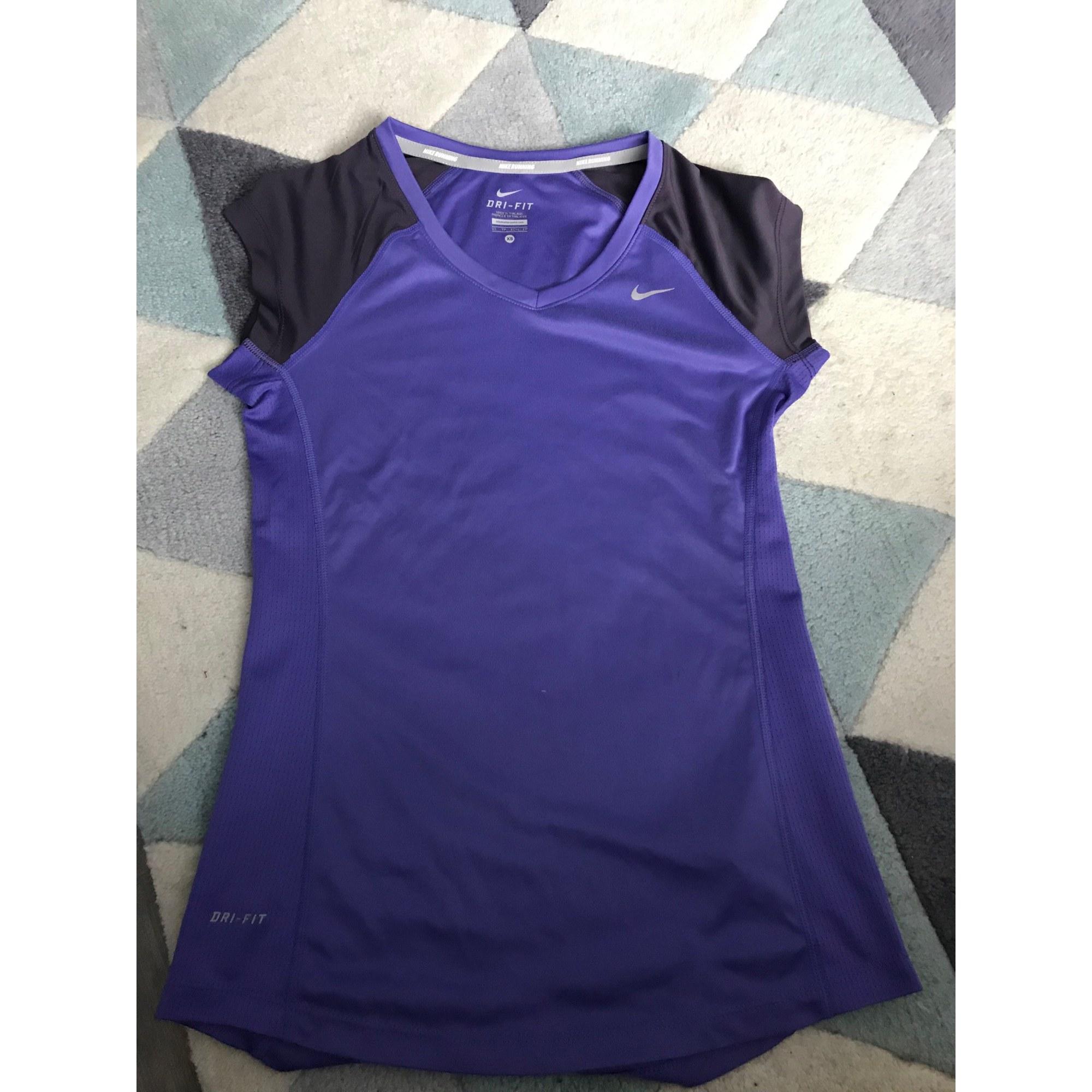 Top, tee-shirt NIKE Violet, mauve, lavande
