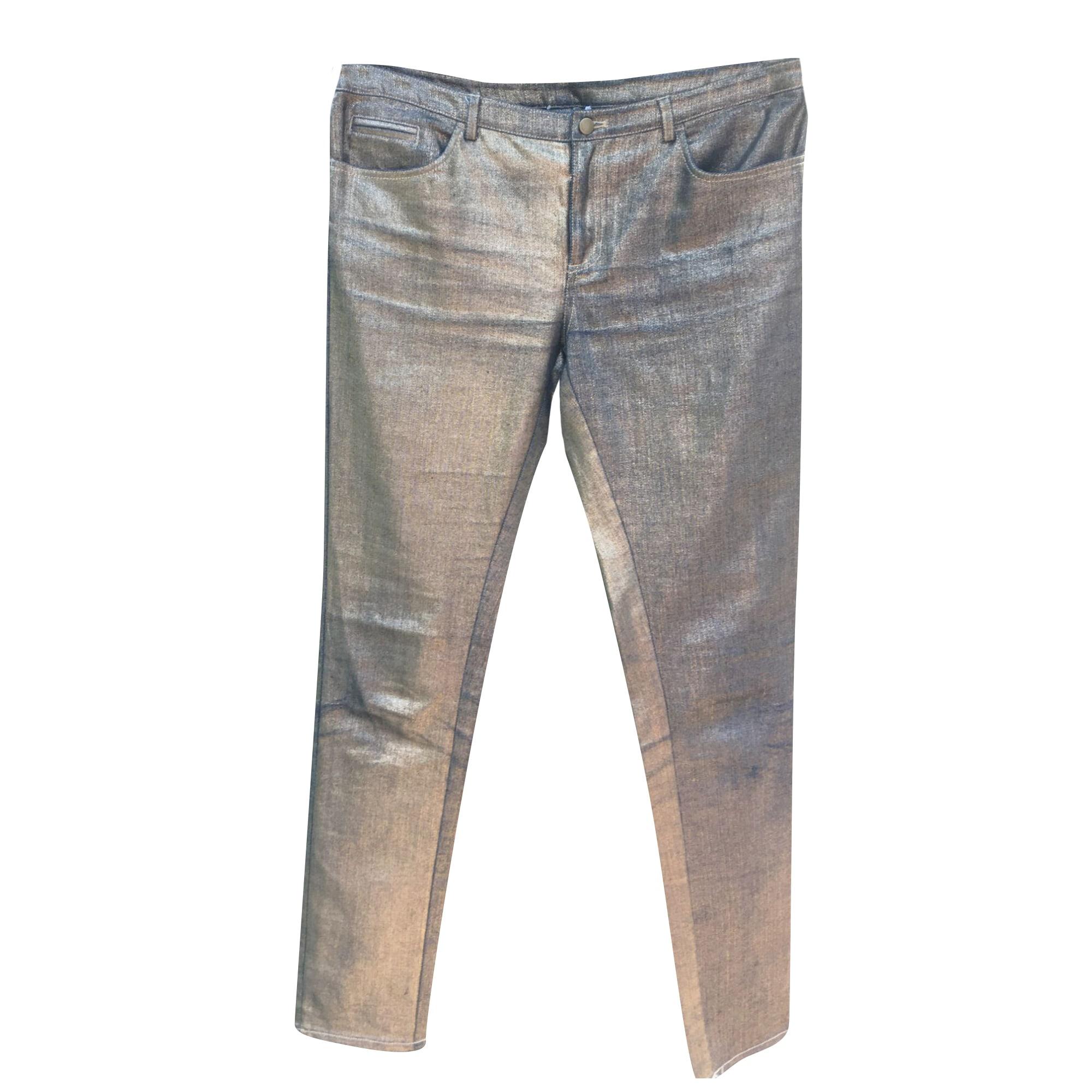 Jeans slim AMERICAN RETRO Doré /Bronze
