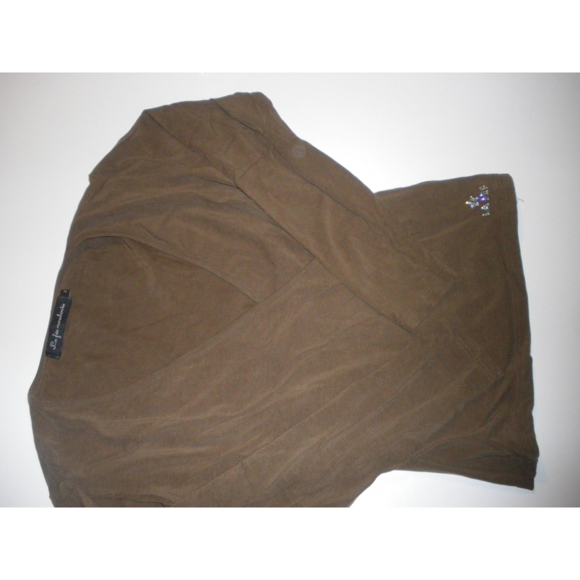 Top, tee-shirt LA FÉE MARABOUTÉE Kaki