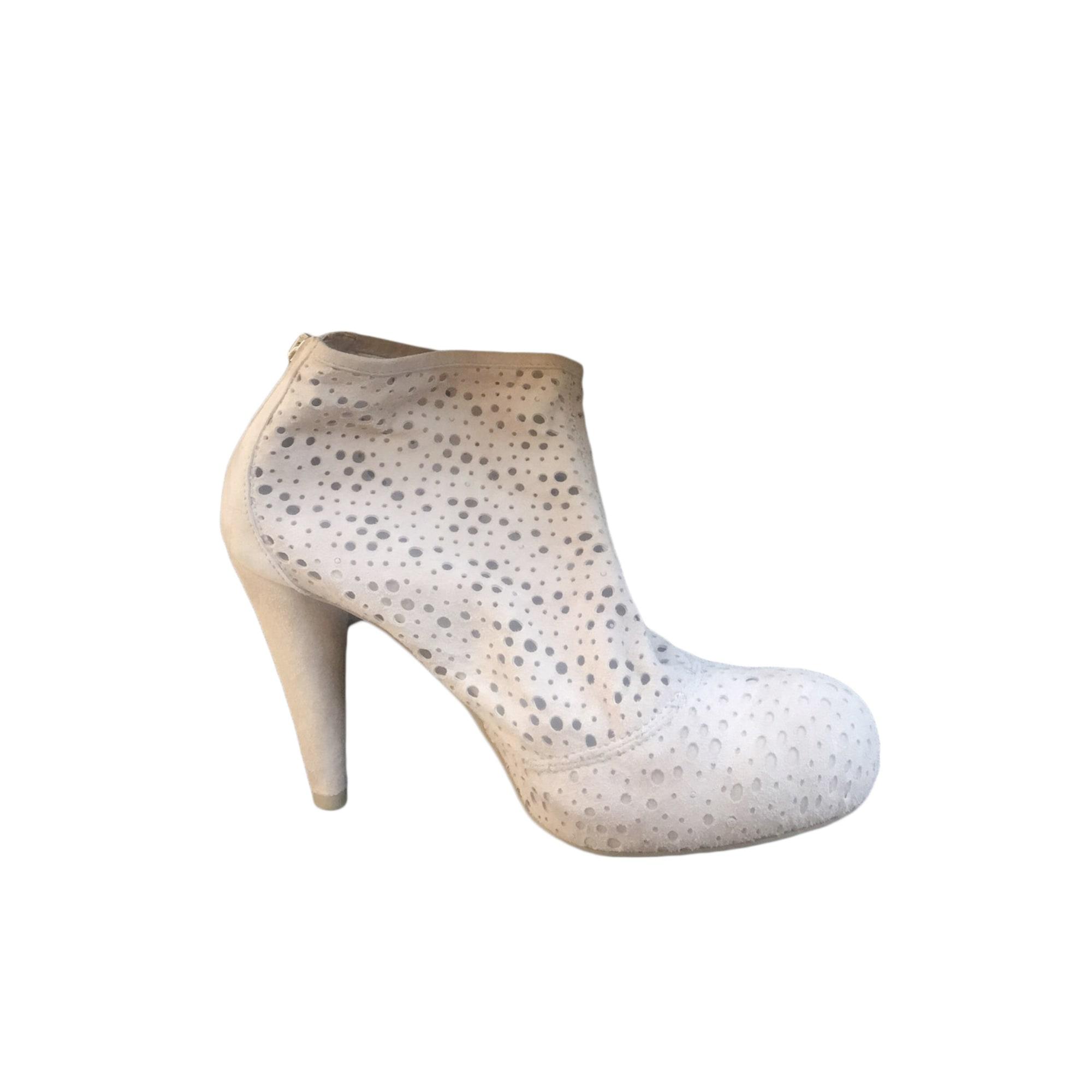 Bottines & low boots à talons VIC MATIÉ Blanc, blanc cassé, écru