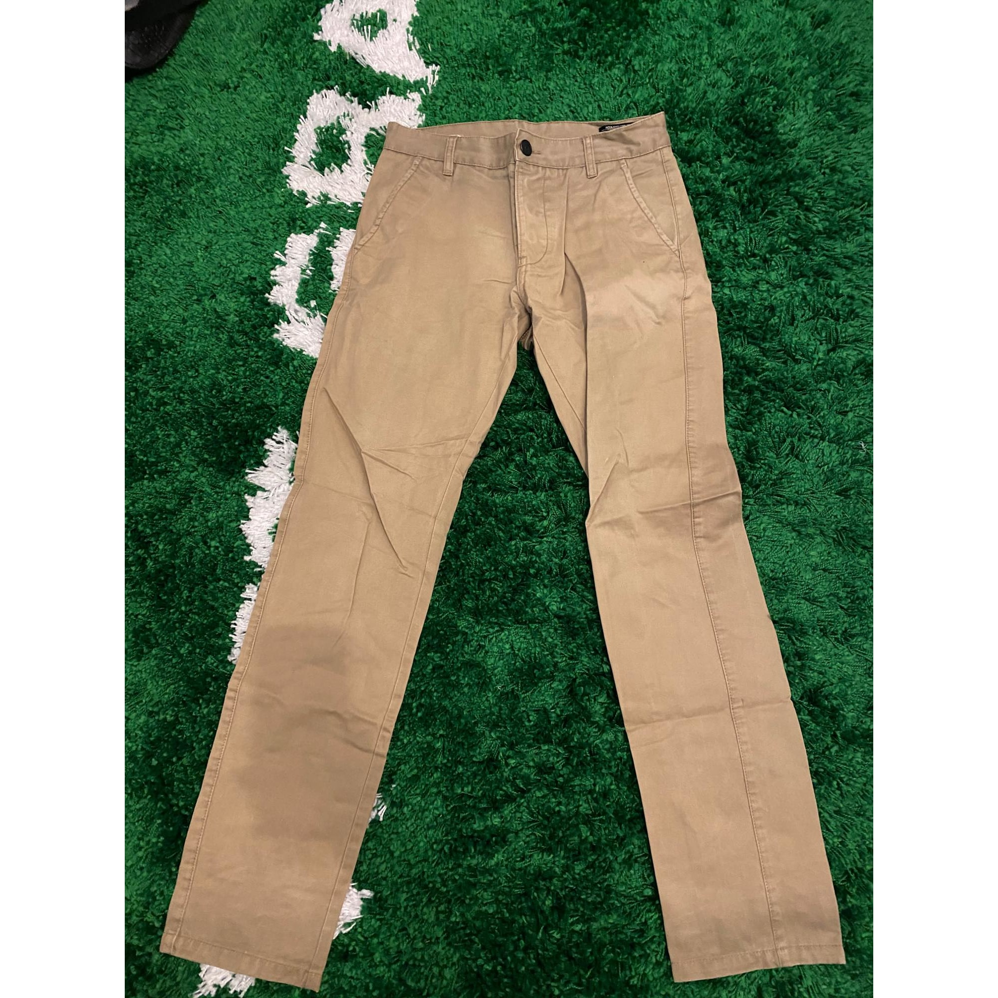 Pantalon slim JACK & JONES Beige, camel