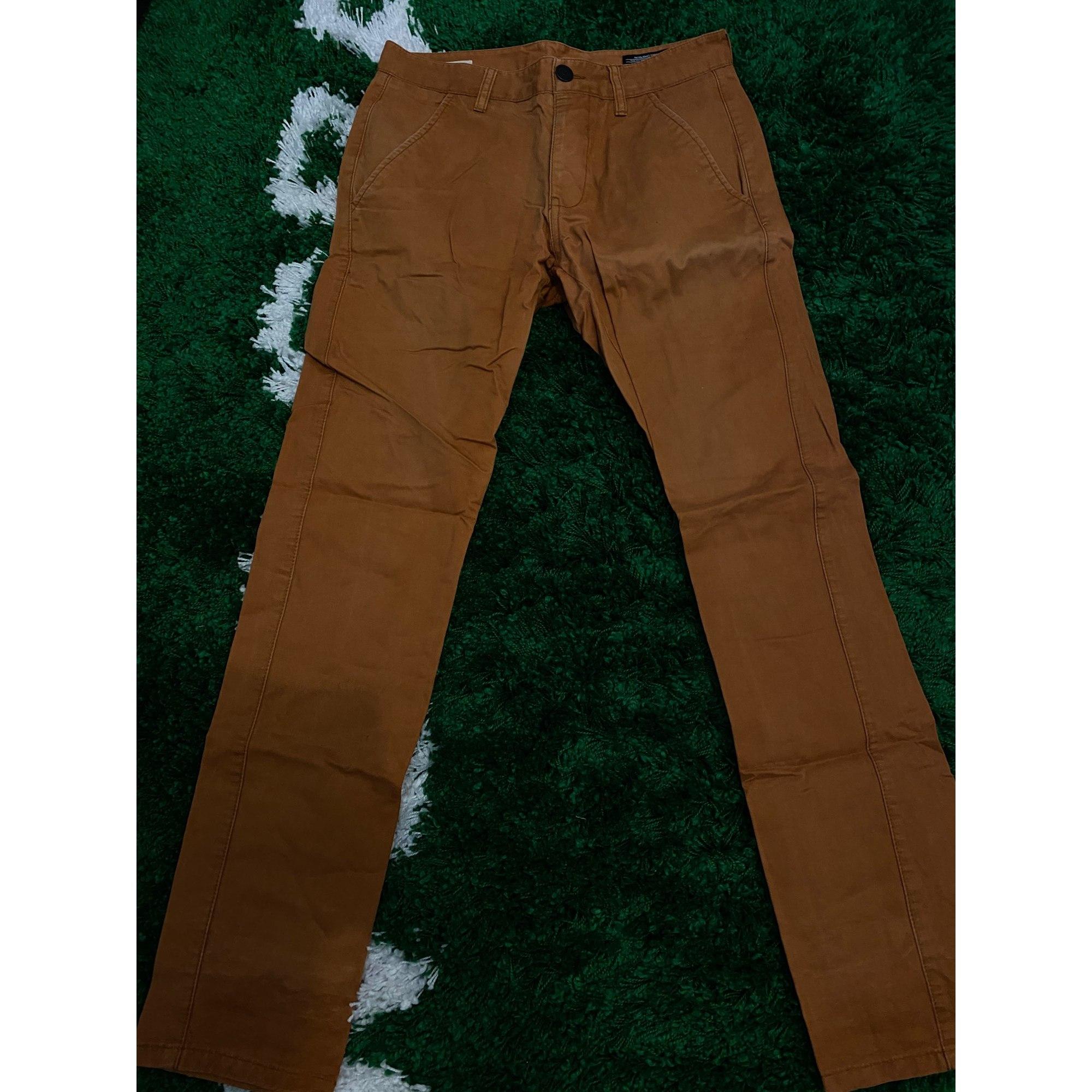 Pantalon slim JACK & JONES Marron