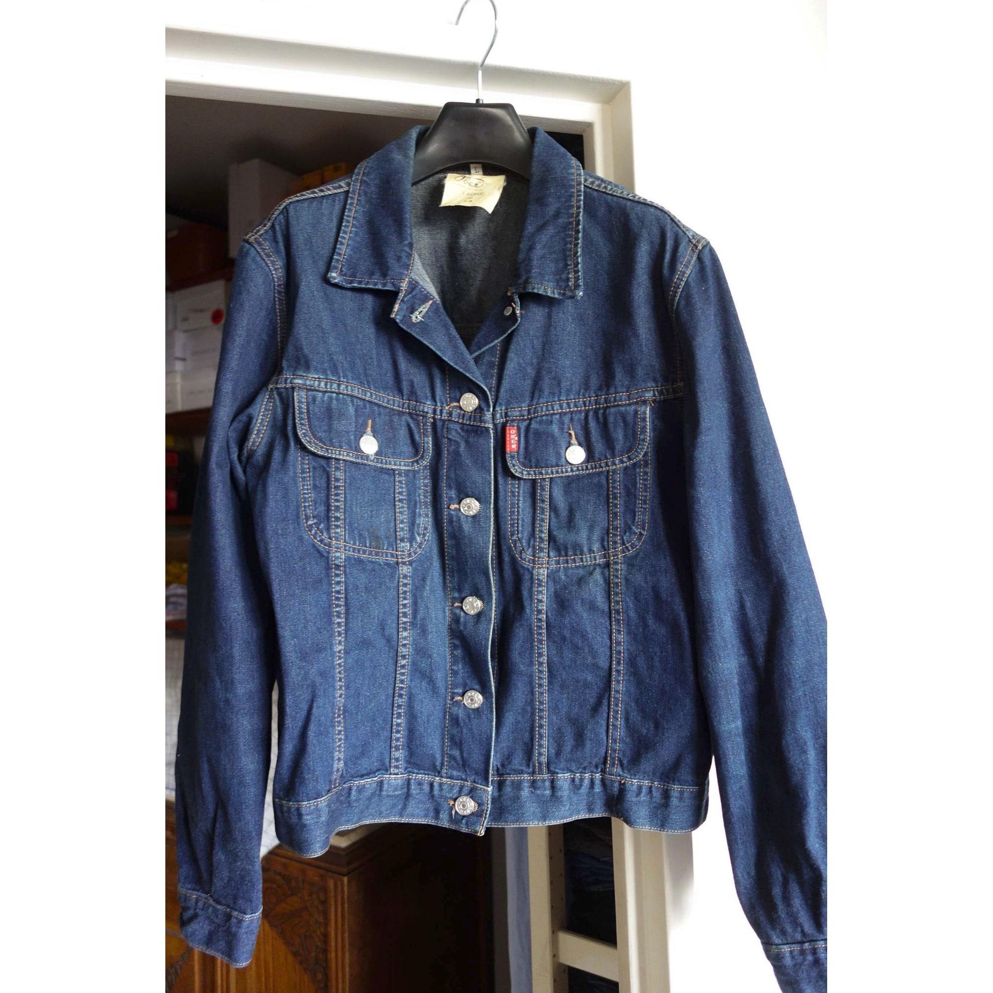 Veste en jean OBER Bleu, bleu marine, bleu turquoise
