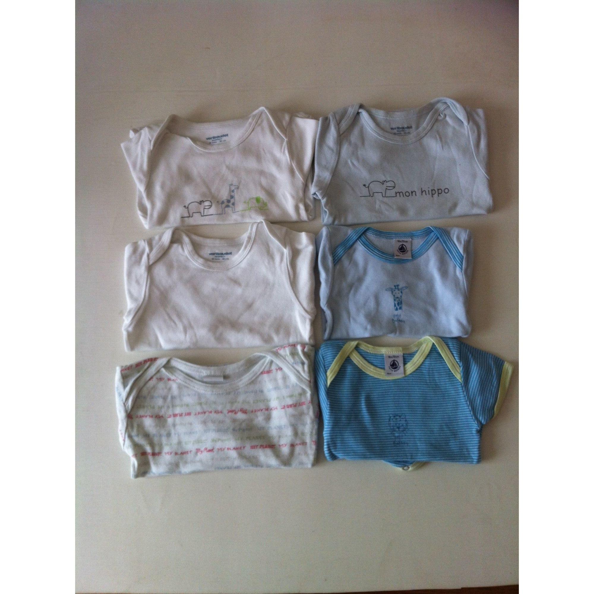 Body PETIT BATEAU bleu, blanc, imprimé