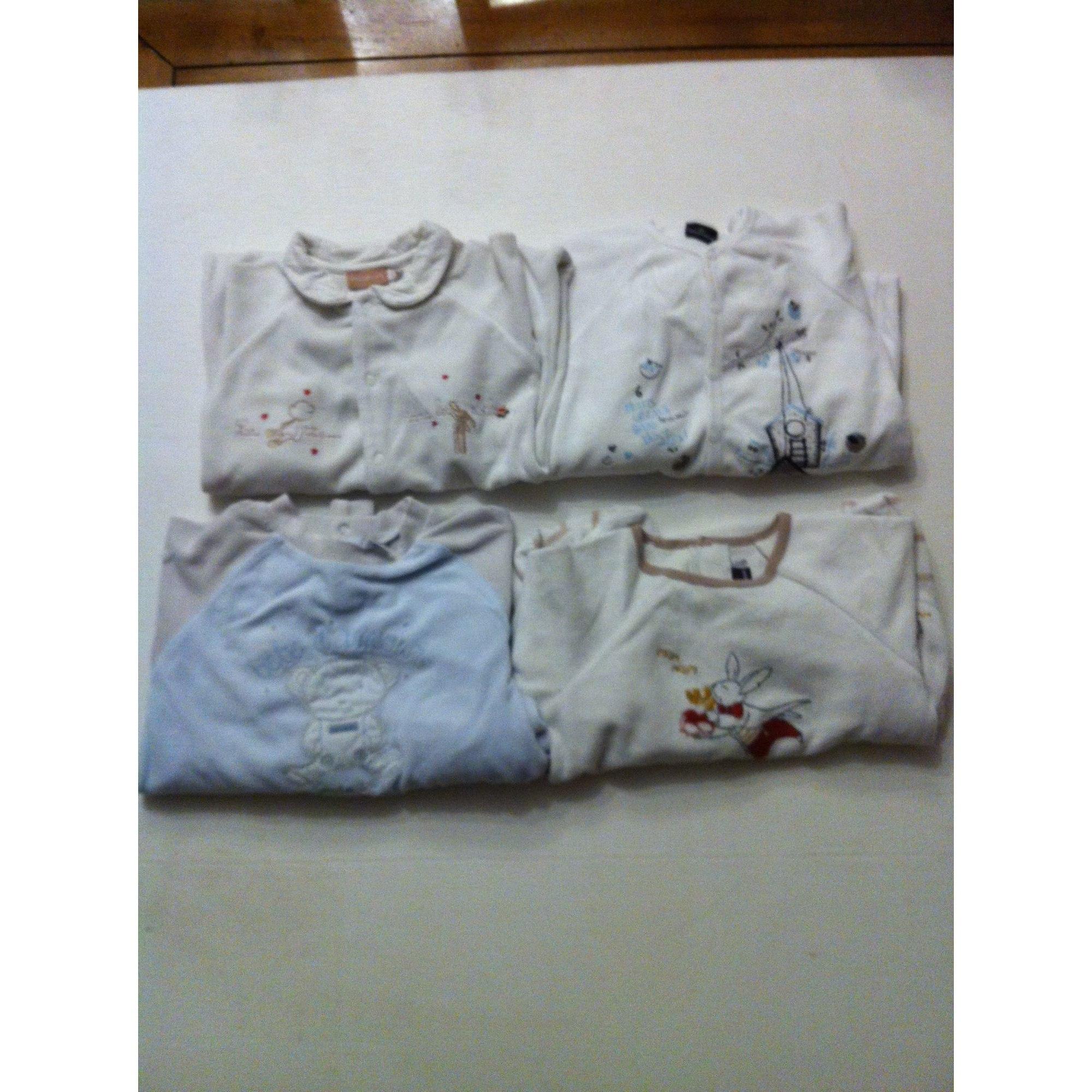 Pyjama SERGENT MAJOR Blanc, beige, bleu