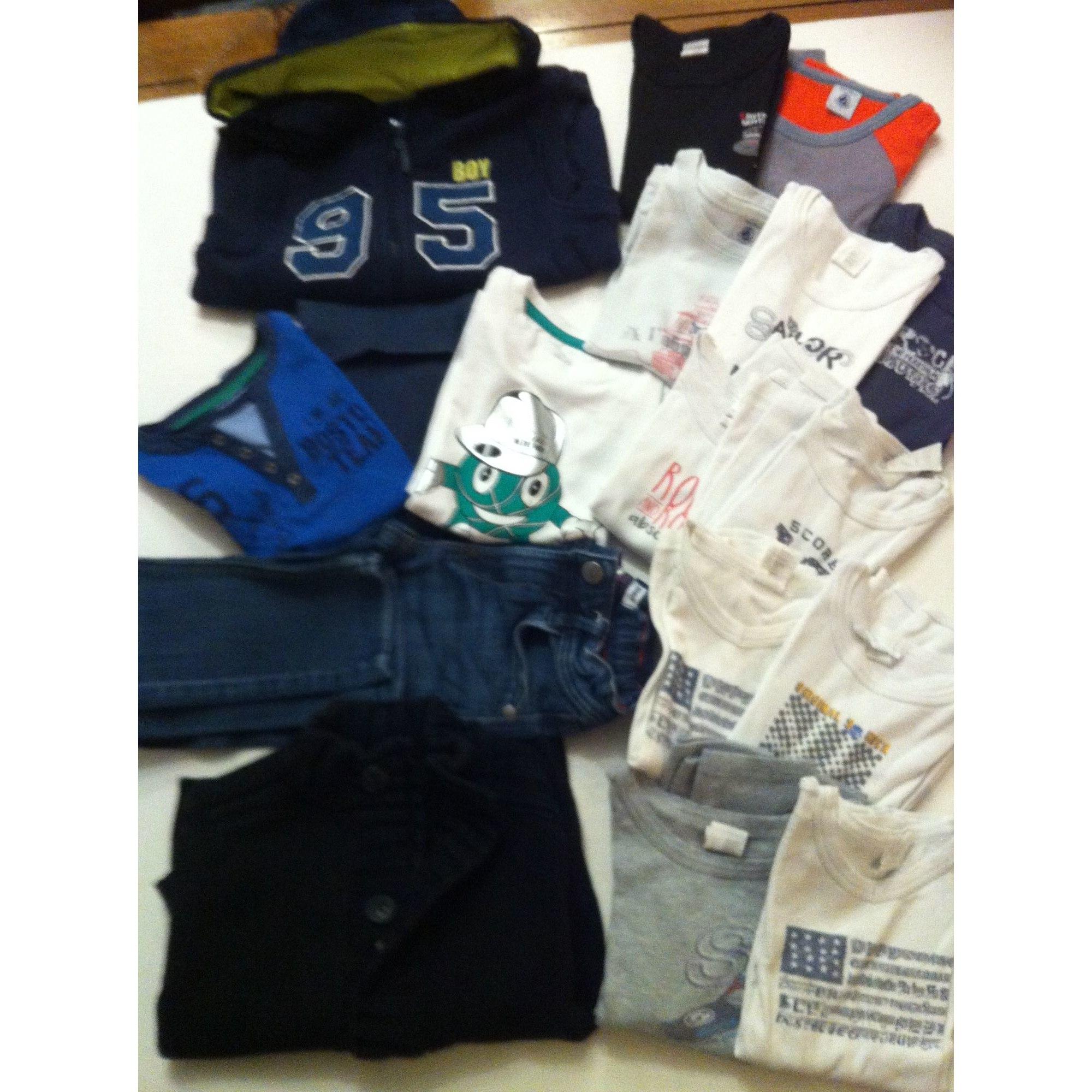 Pantalon OKAÏDI bleu et blanc