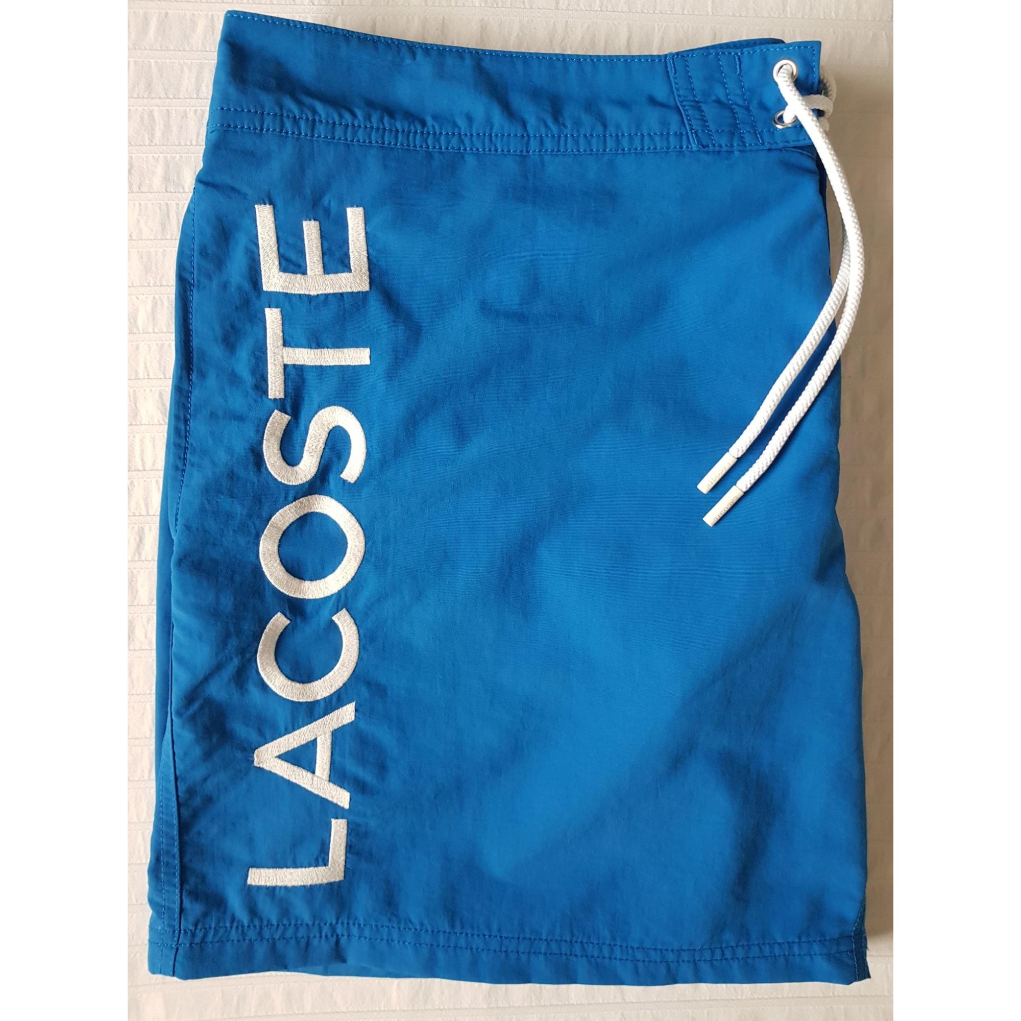 Short de bain LACOSTE Bleu, bleu marine, bleu turquoise