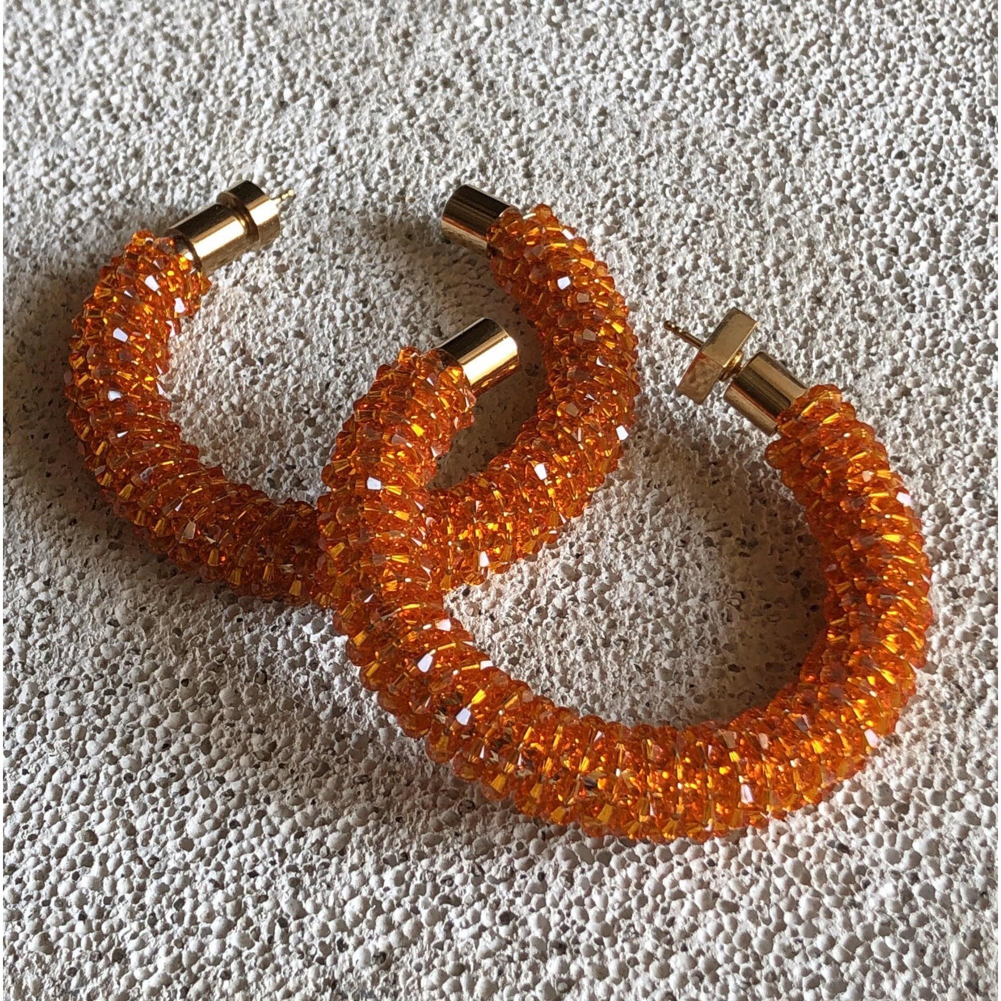 Boucles d'oreille JACQUEMUS Orange