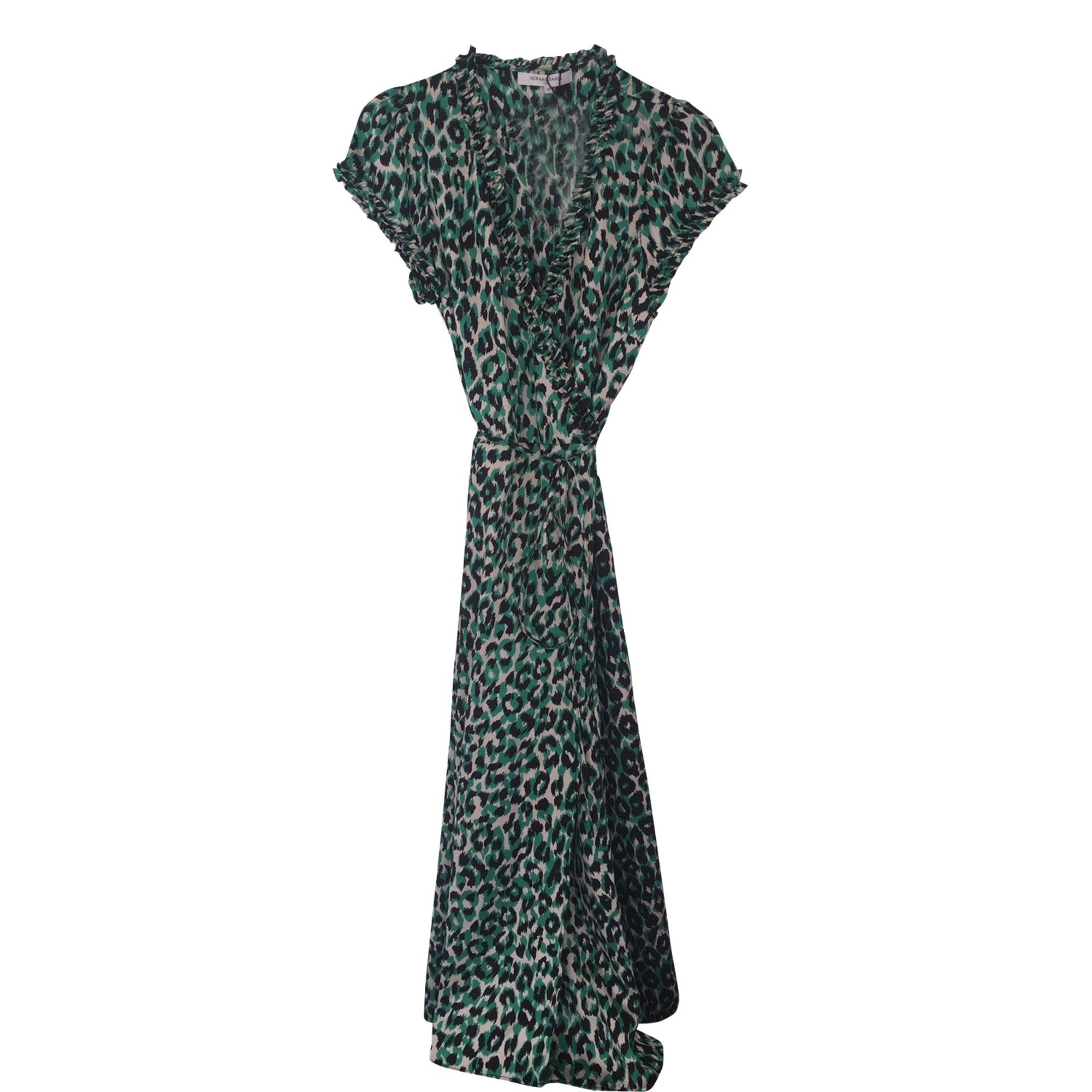 Robe Longue Gerard Darel 38 M T2 Vert Vendu Par Nuagedelait 10194350