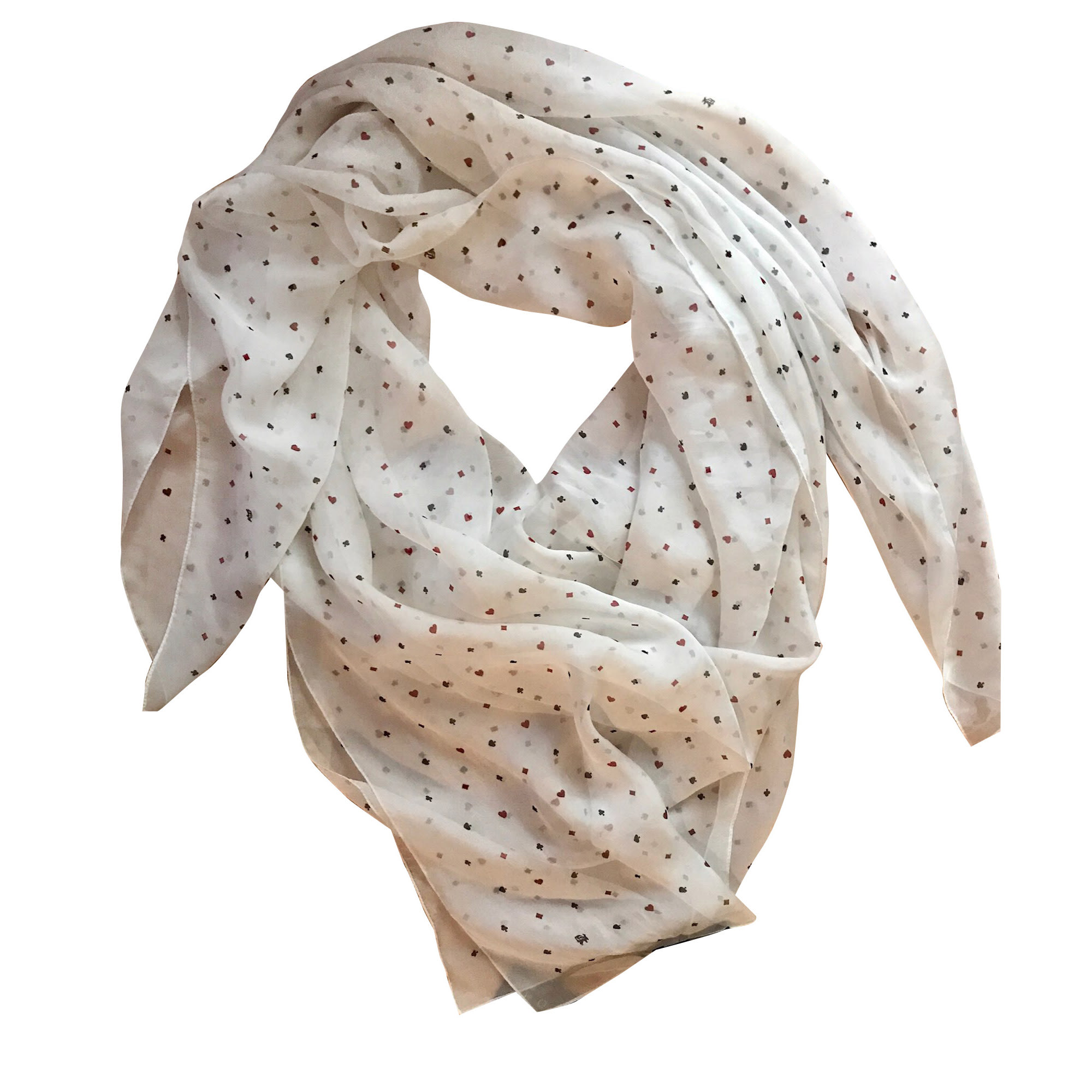 Foulard THE KOOPLES Blanc, blanc cassé, écru