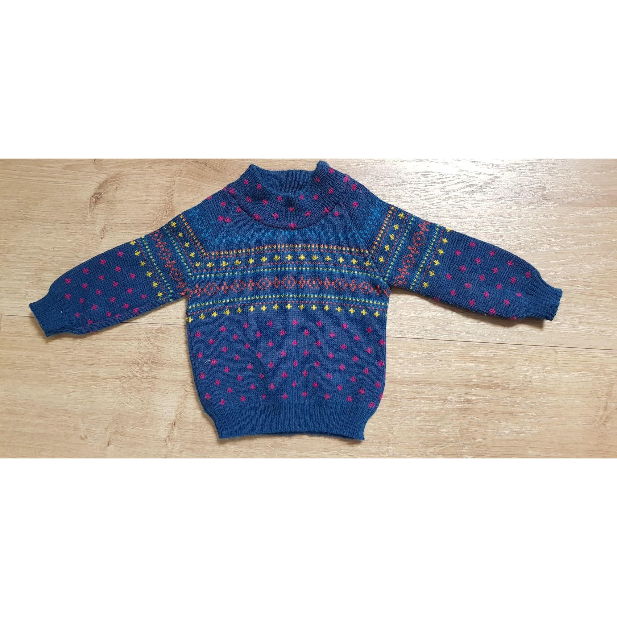 Pull CLAYEUX Bleu, bleu marine, bleu turquoise