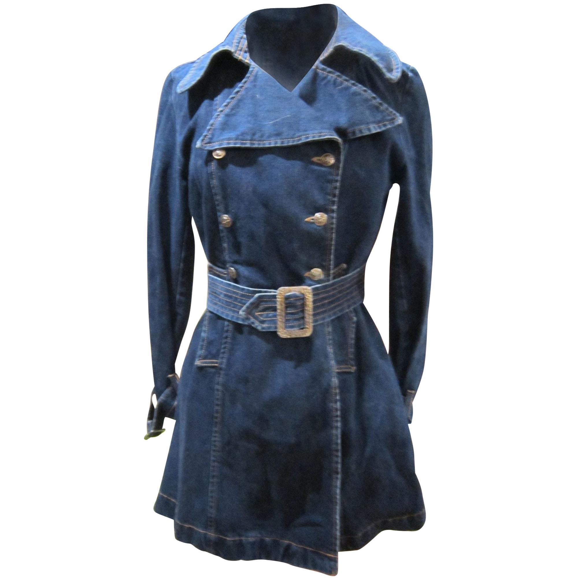 Manteau en jean CHRISTIAN LACROIX Bleu, bleu marine, bleu turquoise