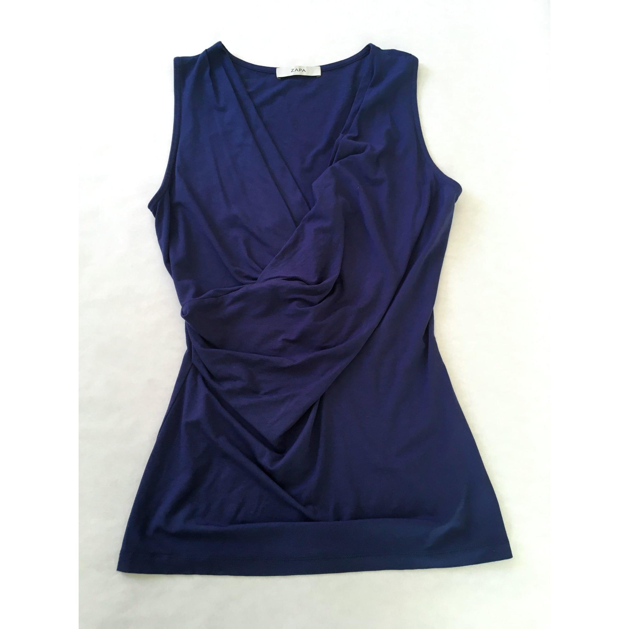 Top, tee-shirt ZAPA Bleu, bleu marine, bleu turquoise
