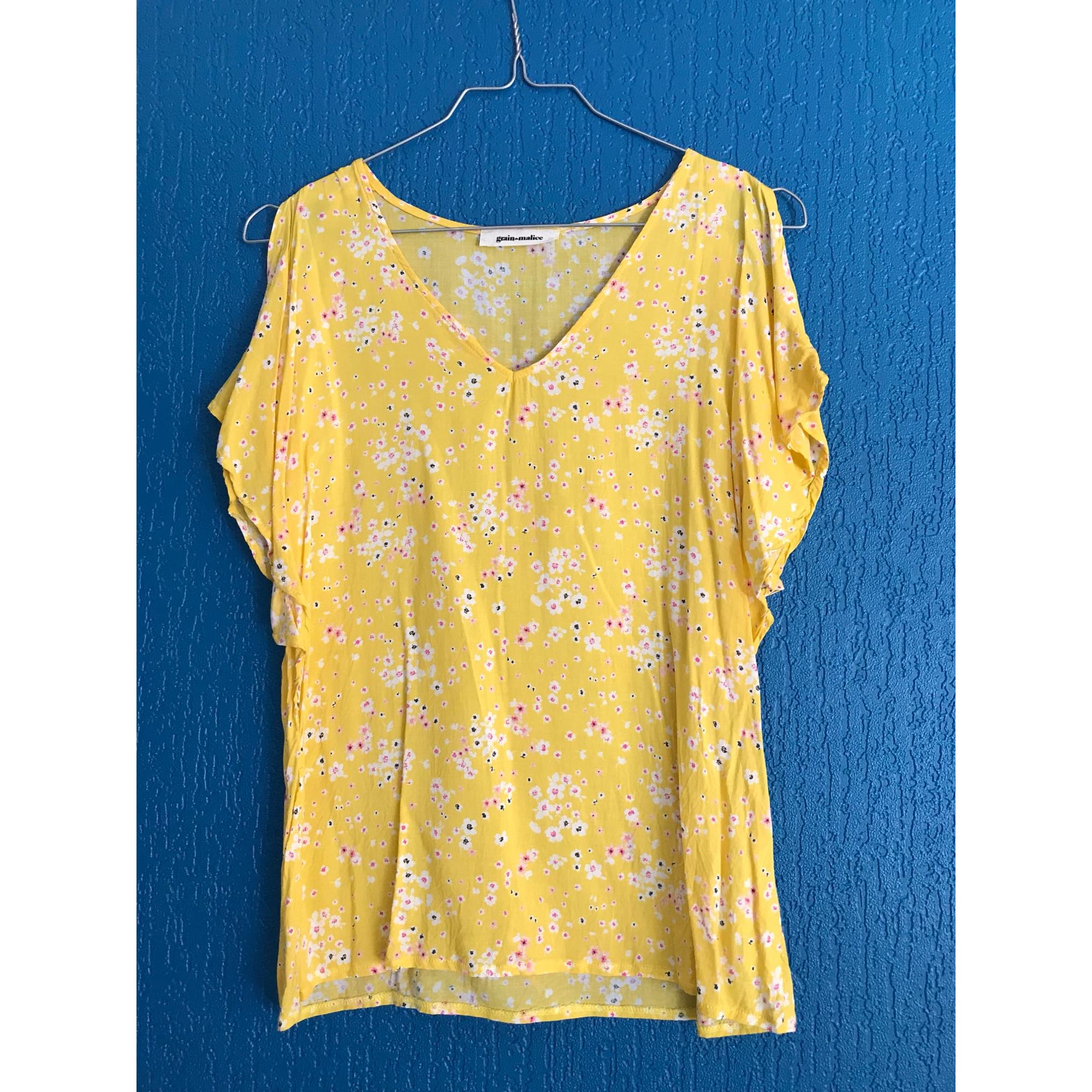 Top, tee-shirt GRAIN DE MALICE Jaune