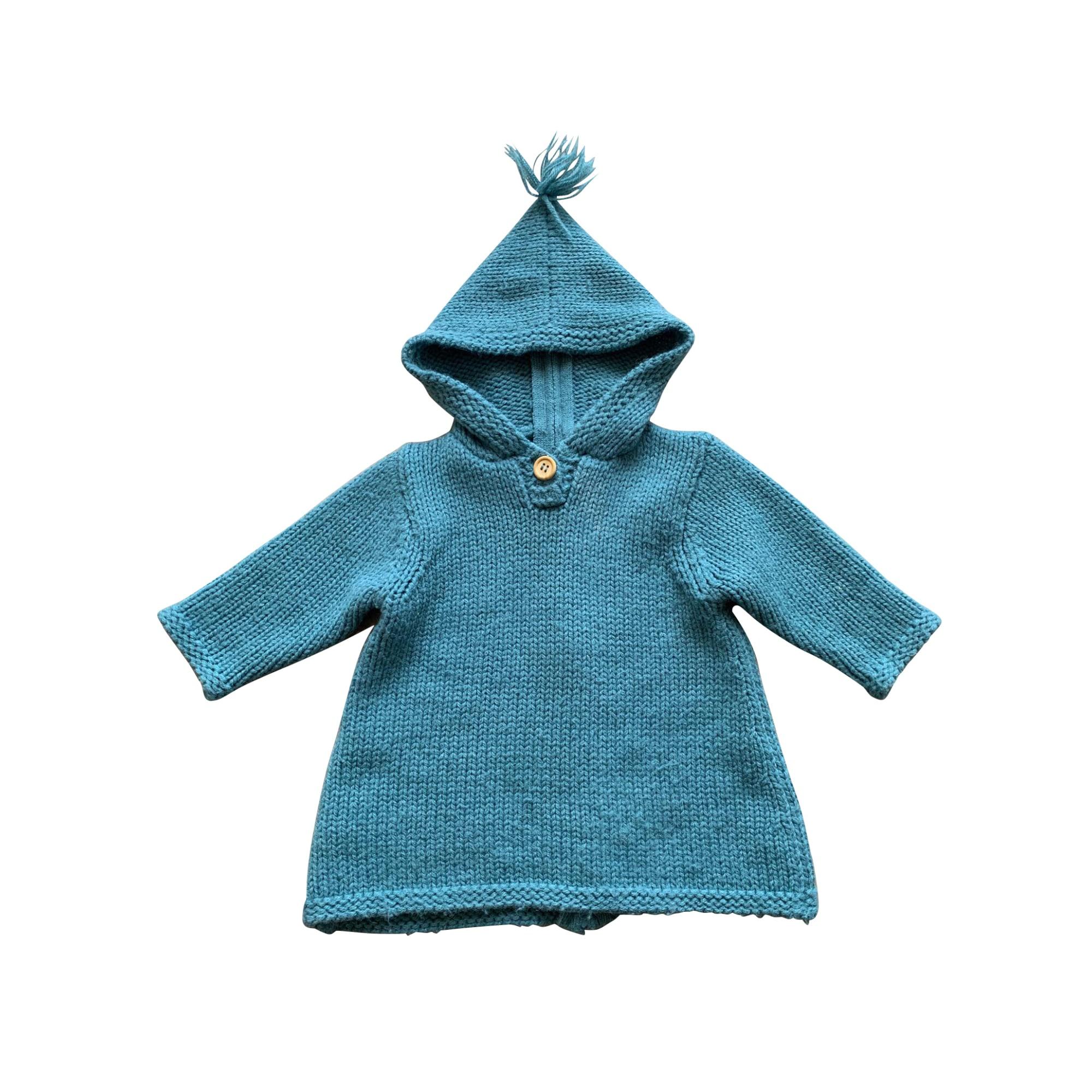 Gilet, cardigan BONTON Bleu, bleu marine, bleu turquoise