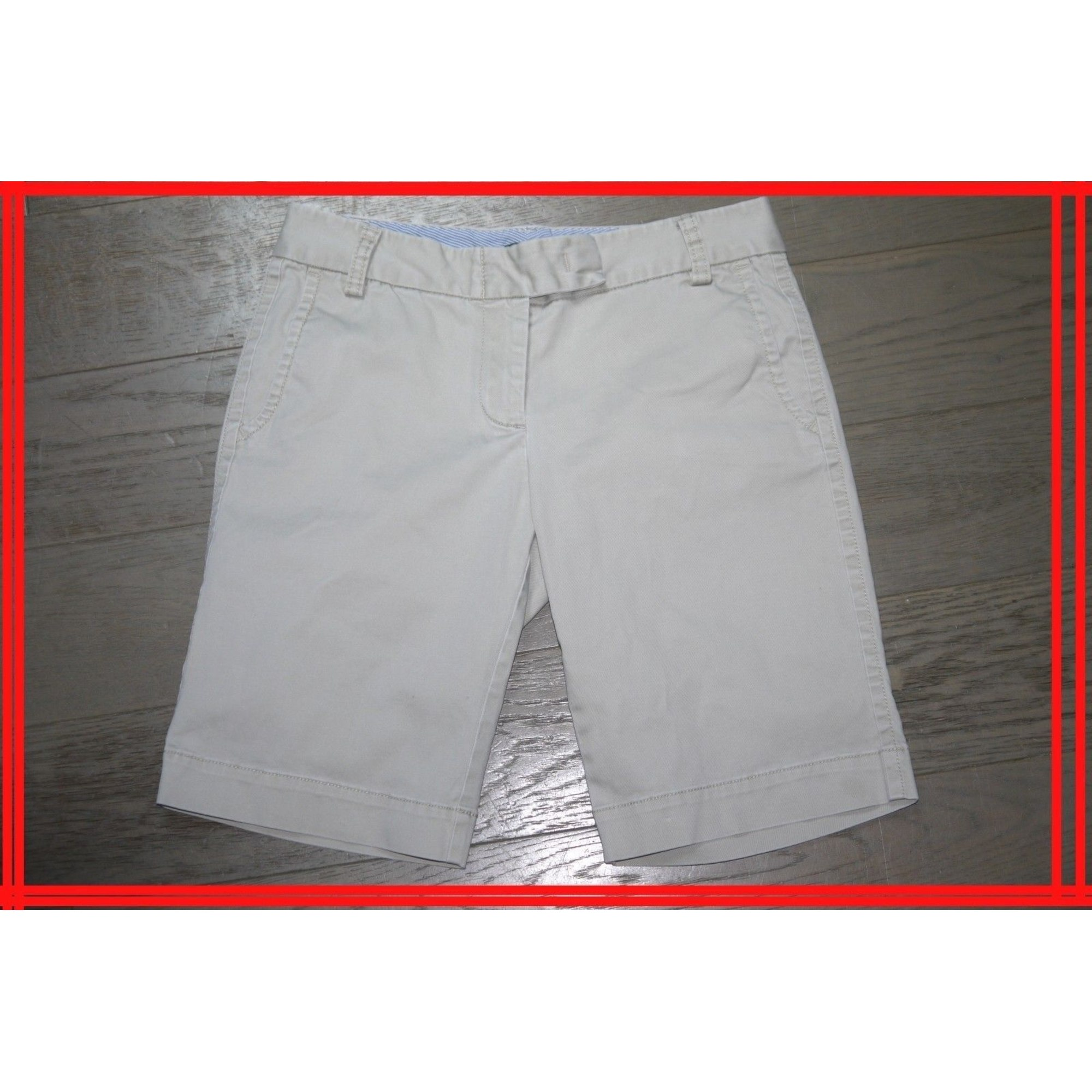 Short J CREW Blanc, blanc cassé, écru