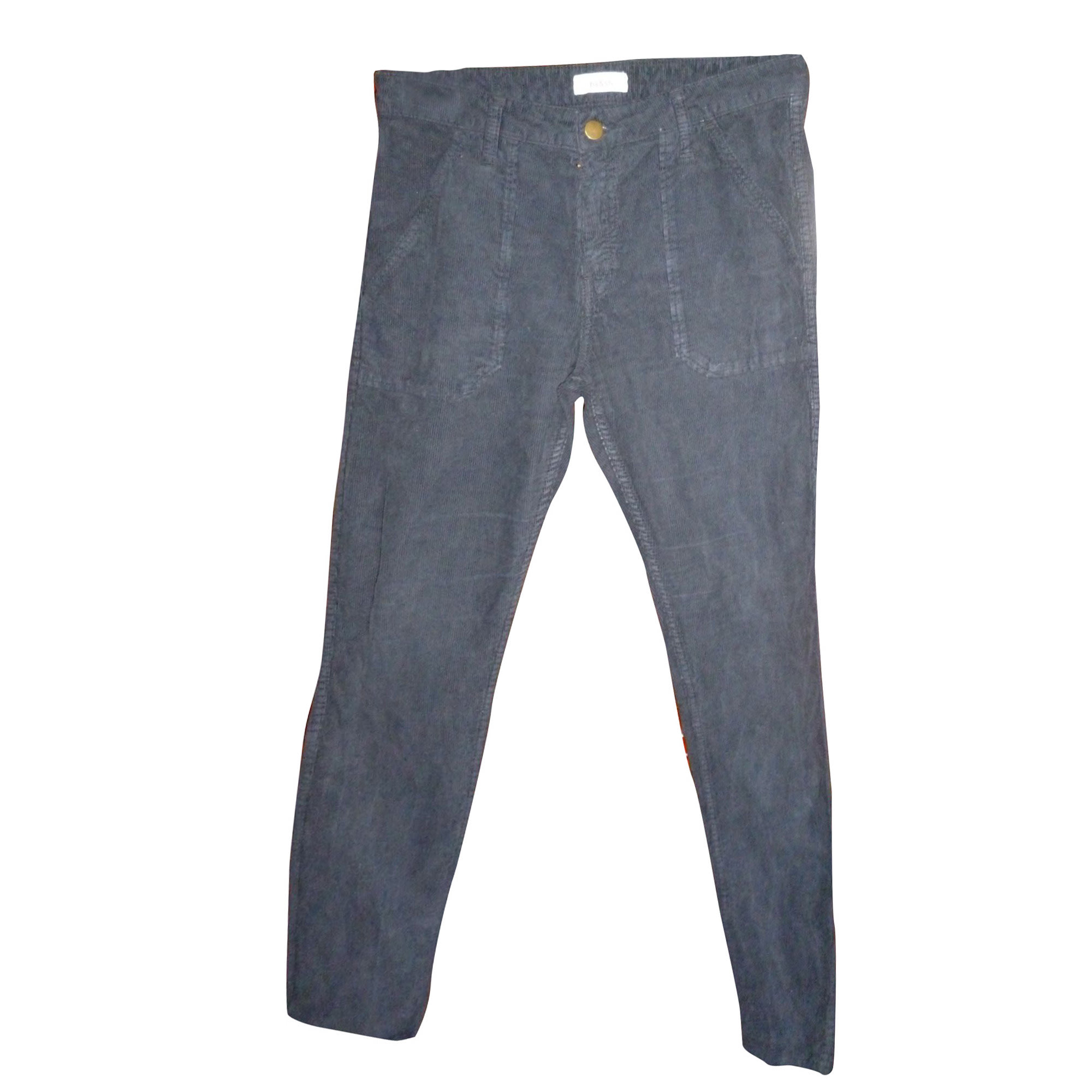 Pantalon droit BA&SH Bleu, bleu marine, bleu turquoise