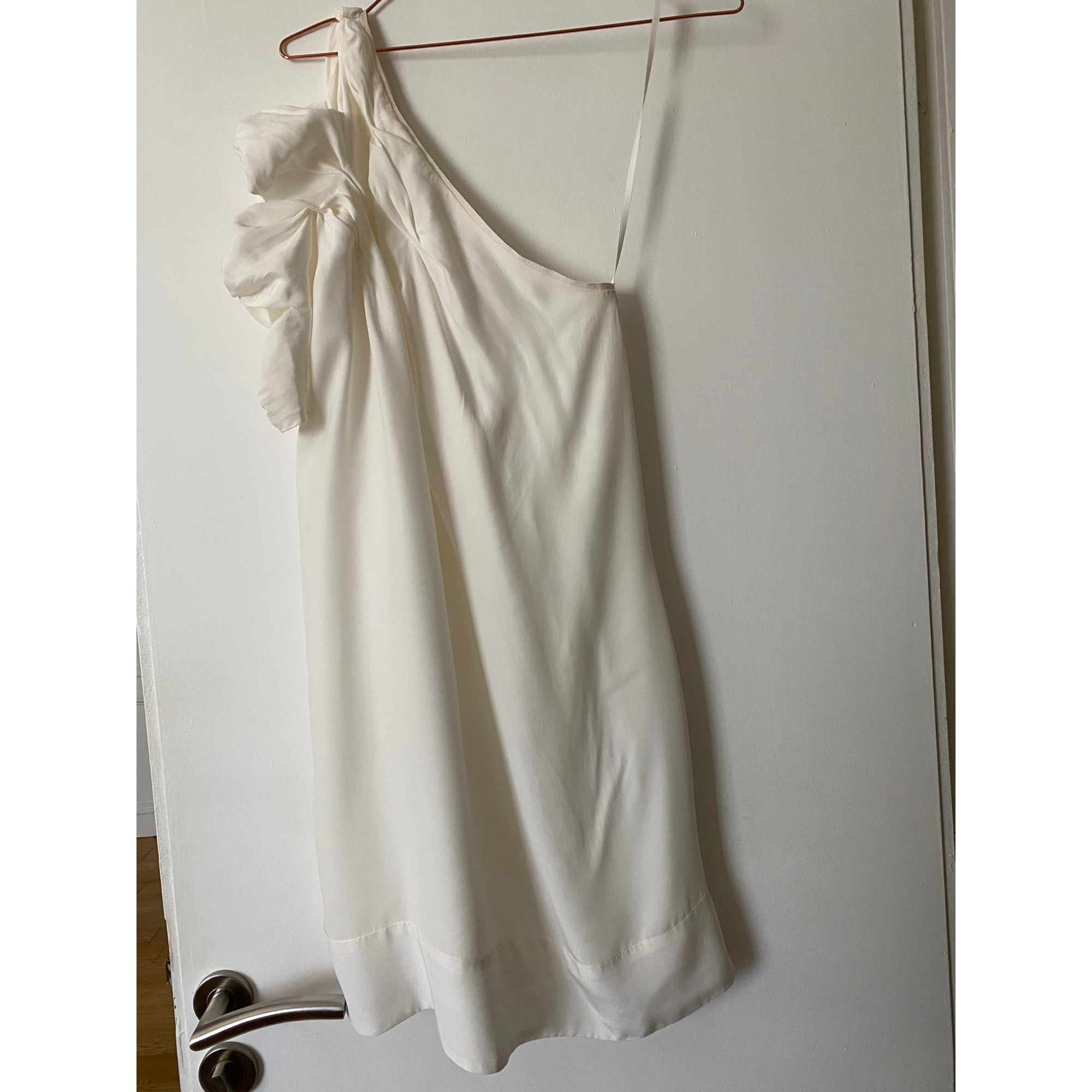 Robe courte CLAUDIE PIERLOT Blanc, blanc cassé, écru