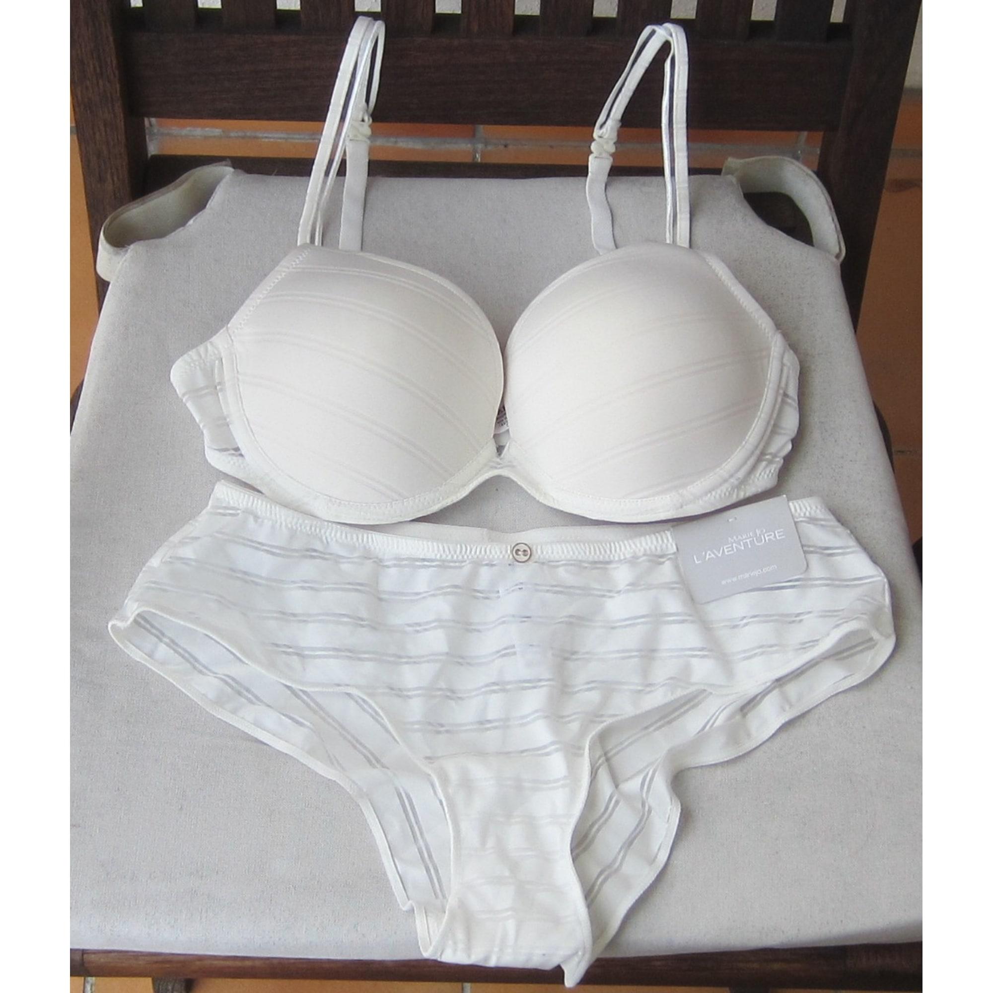Ensemble, parure lingerie MARIE JO Blanc, blanc cassé, écru