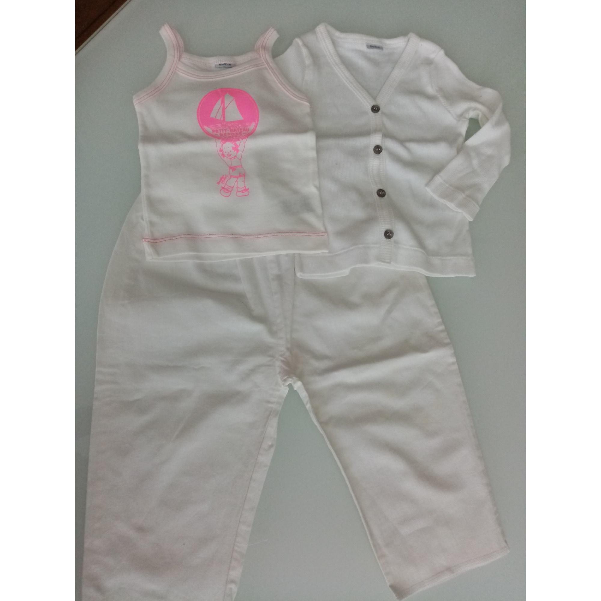 Ensemble & Combinaison pantalon PETIT BATEAU Blanc, blanc cassé, écru