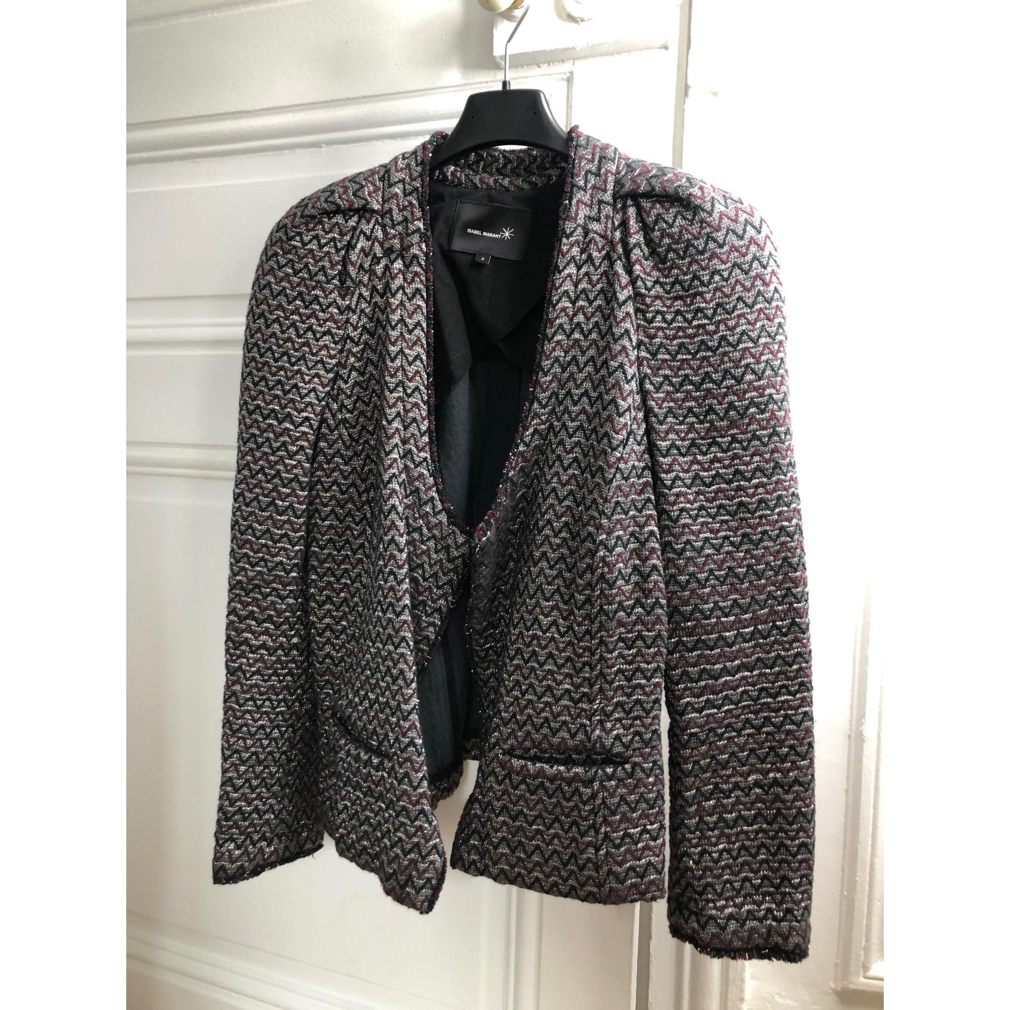 Blazer, veste tailleur ISABEL MARANT Argenté, acier