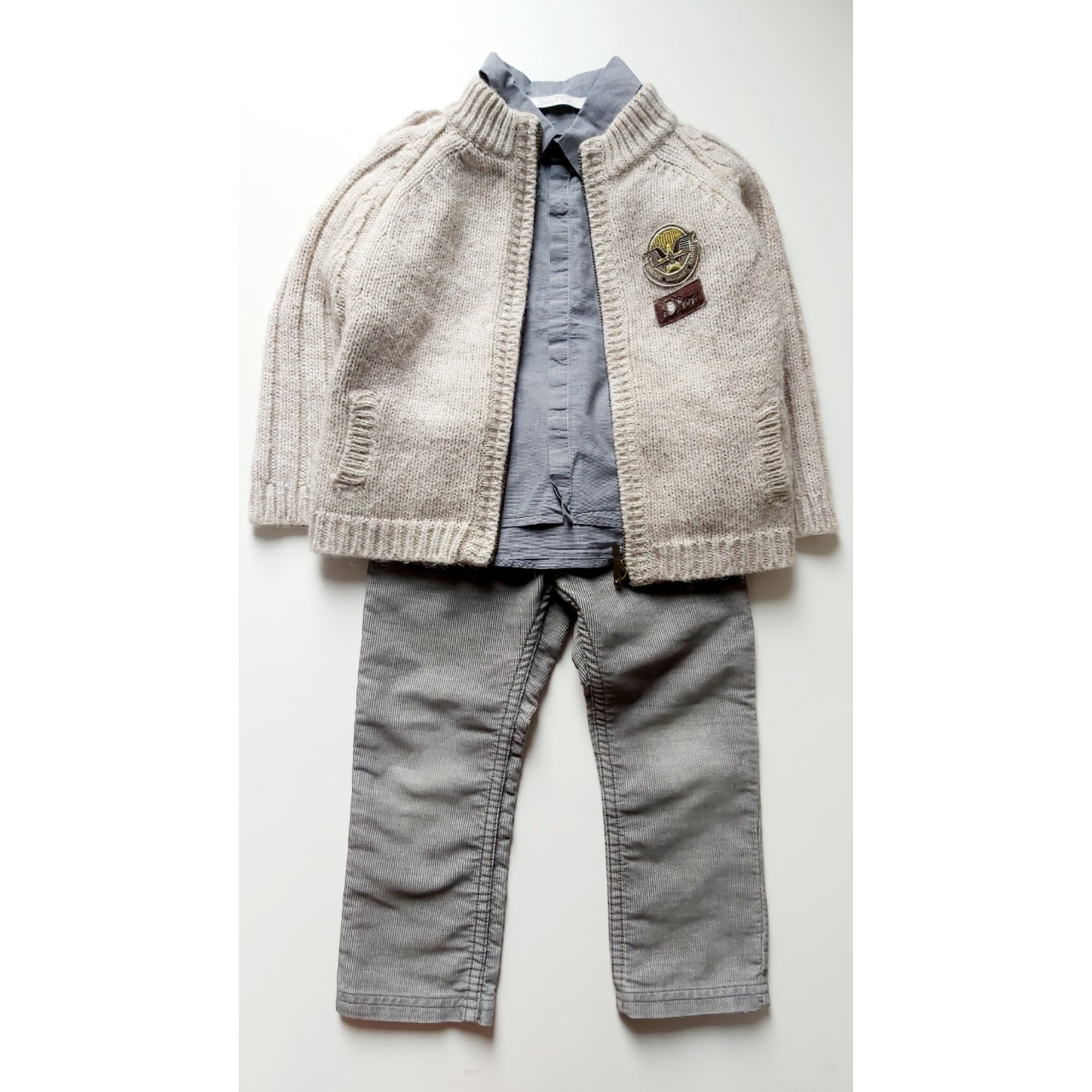 Pants Set, Outfit BABY DIOR Gray, charcoal