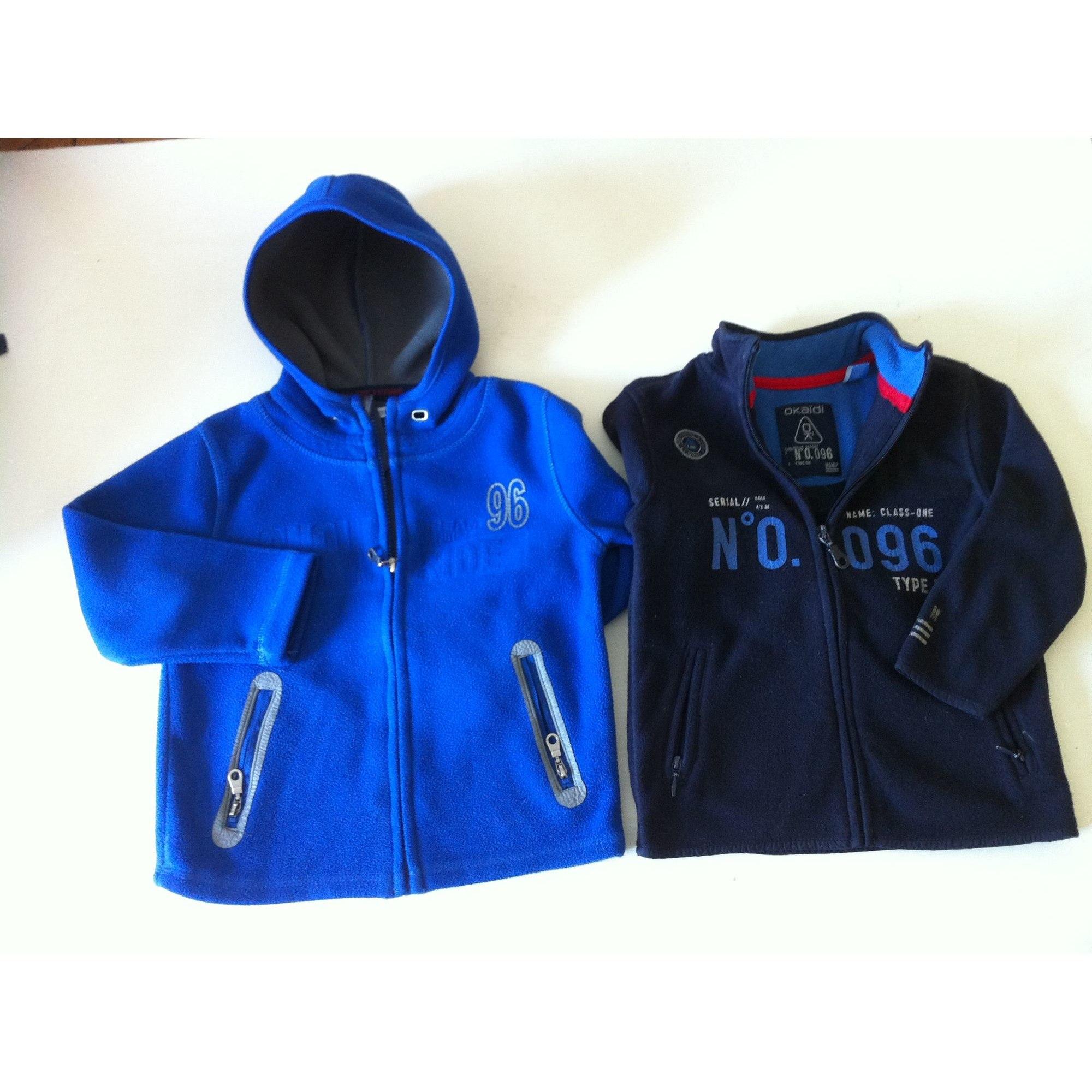 Sweat OKAÏDI Bleu, bleu marine, bleu turquoise