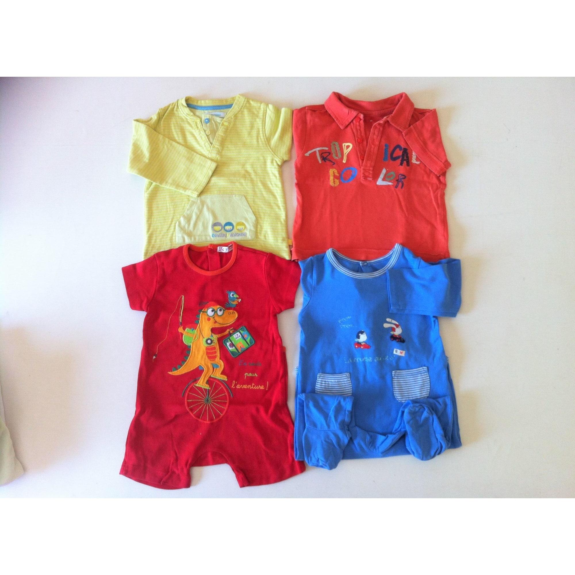 Top, tee shirt OBAIBI blanc, bleu, rouge, vert