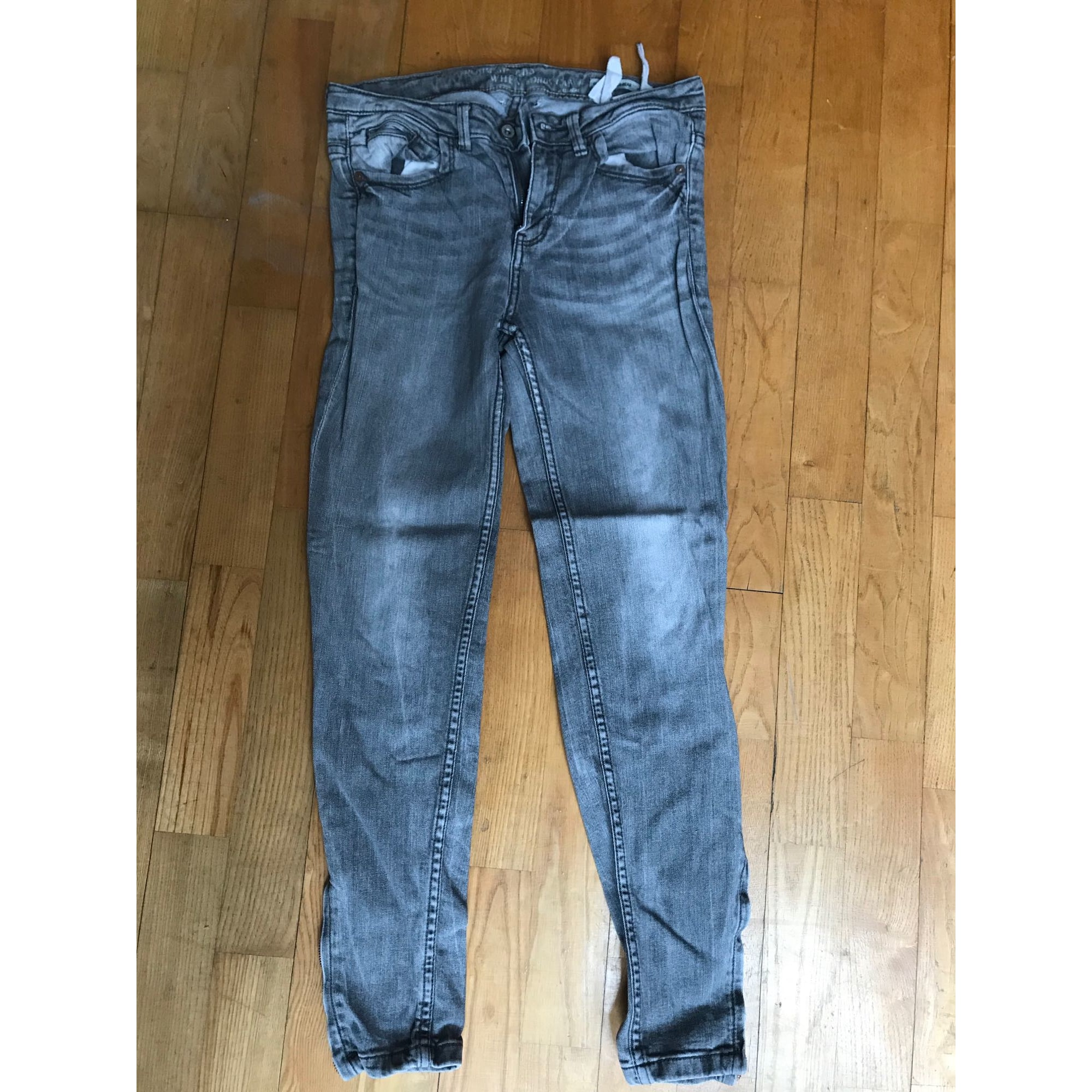 Jeans slim PULL & BEAR Gris, anthracite