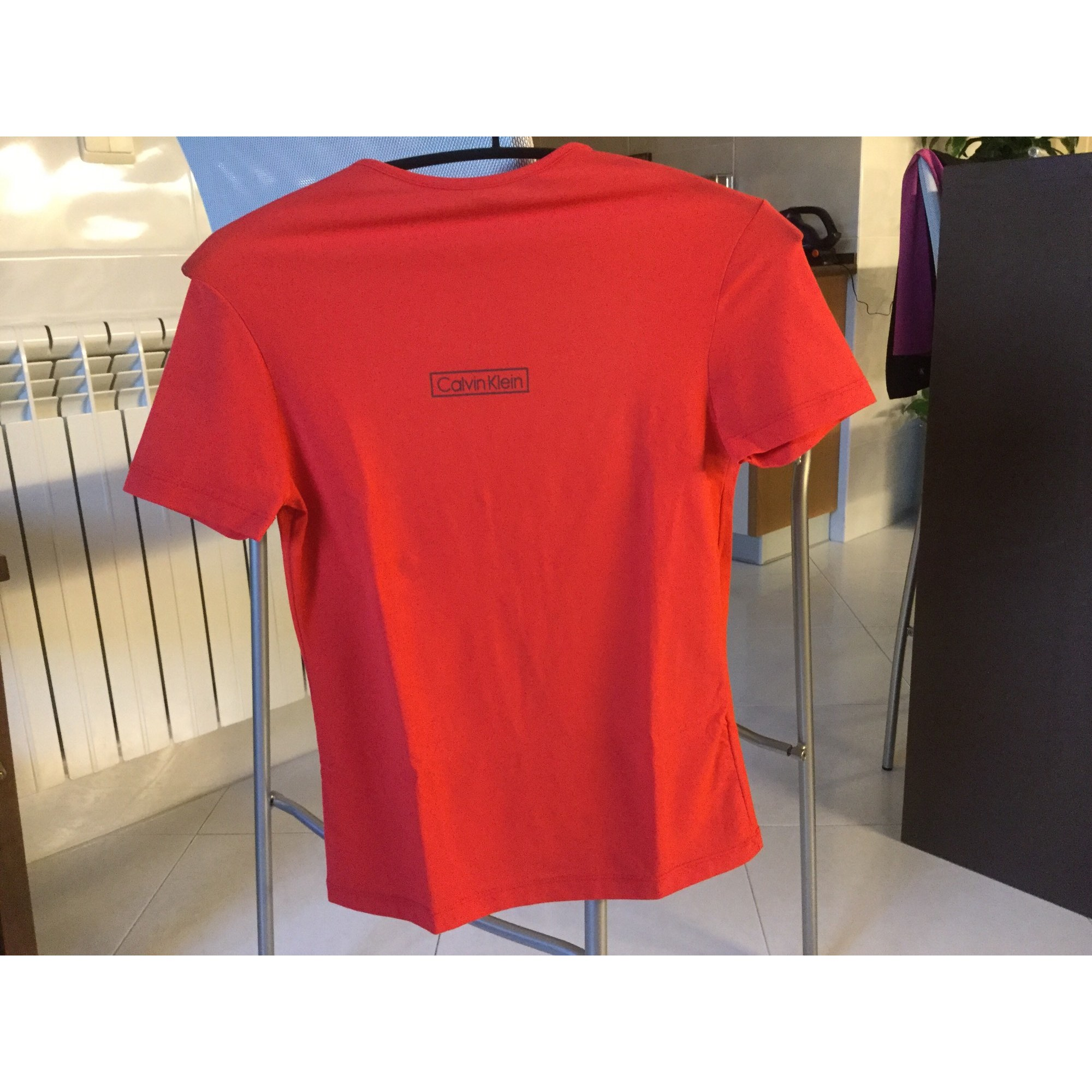 Top, tee-shirt CALVIN KLEIN Rouge, bordeaux