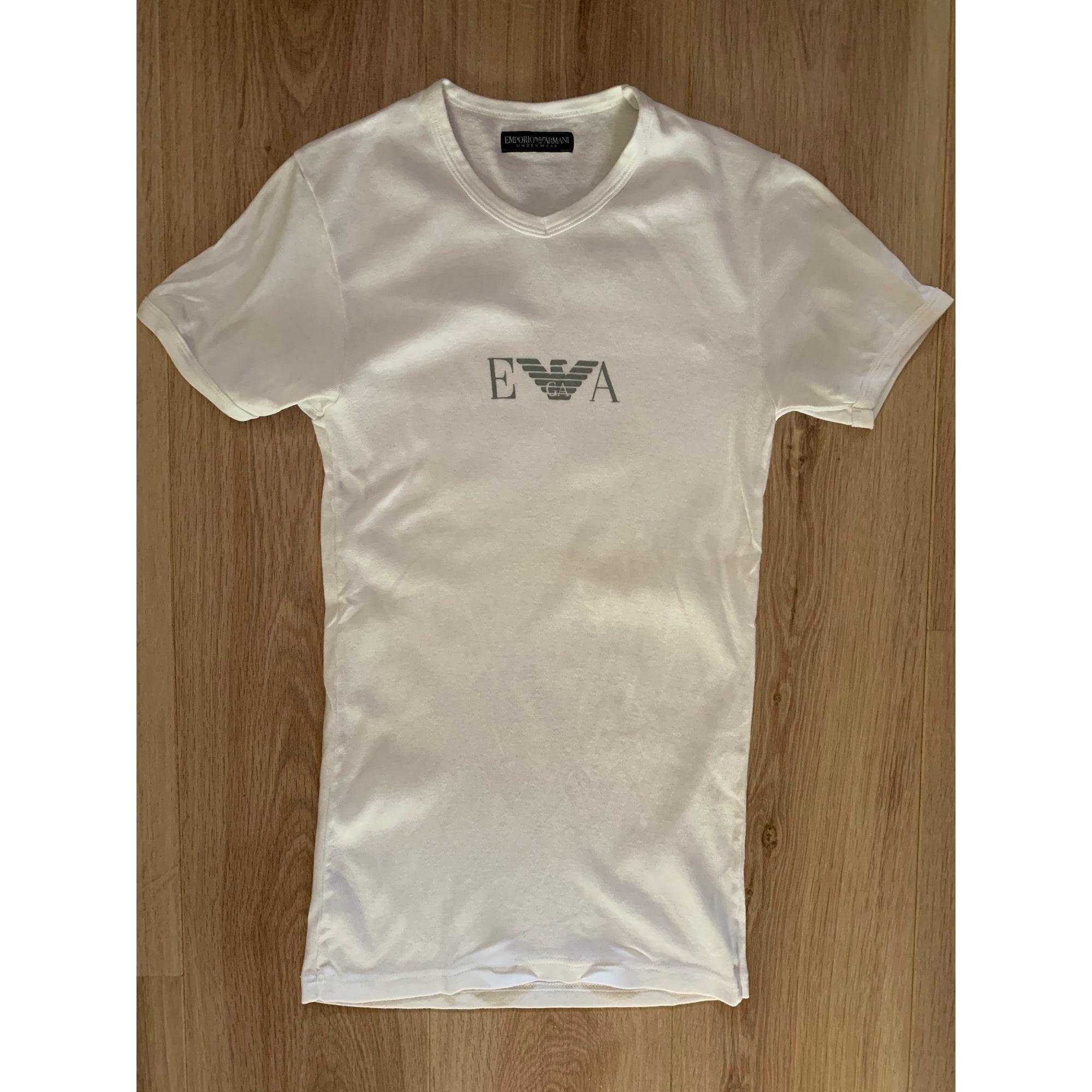 Tee-shirt EMPORIO ARMANI Blanc, blanc cassé, écru