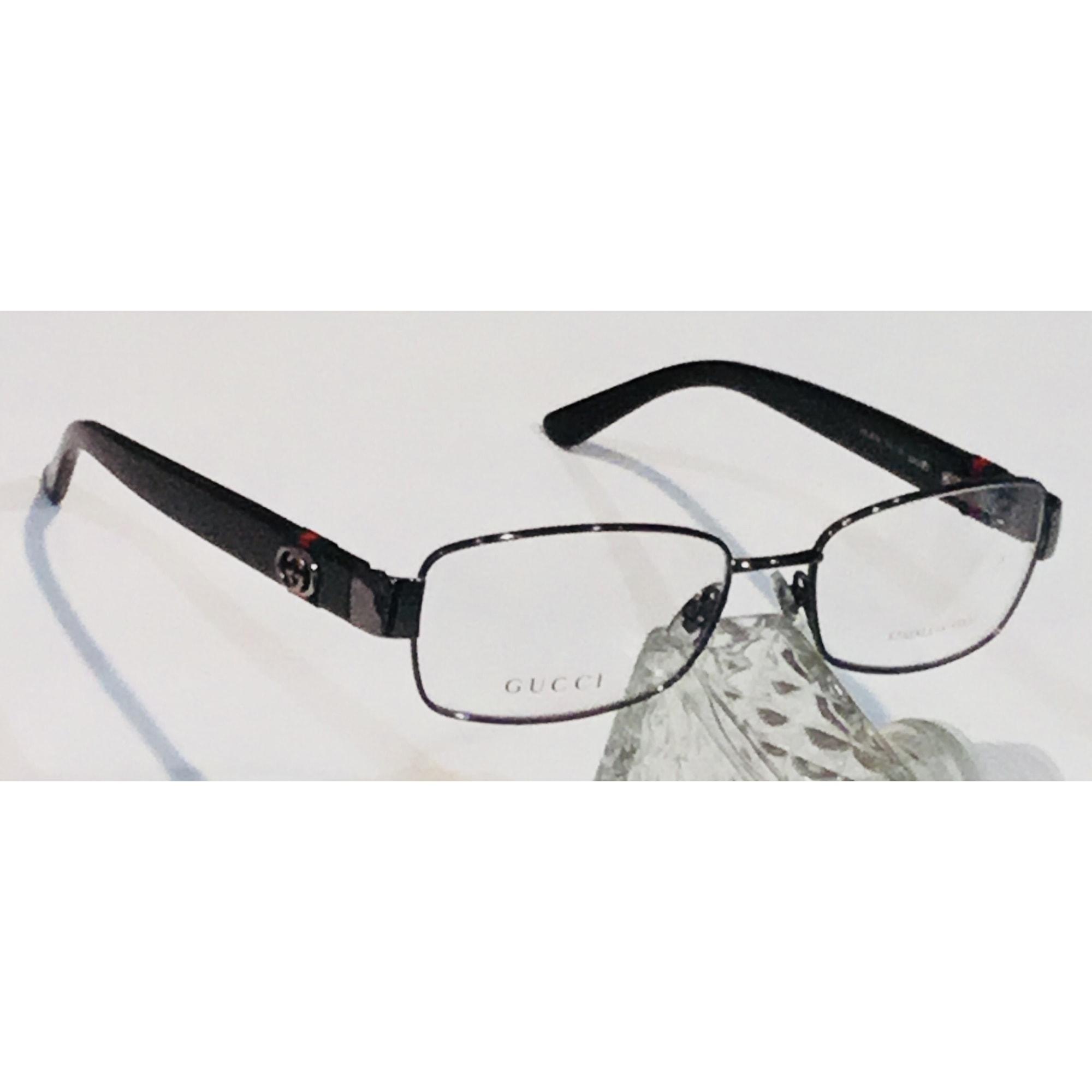 Monture de lunettes GUCCI Argenté, acier