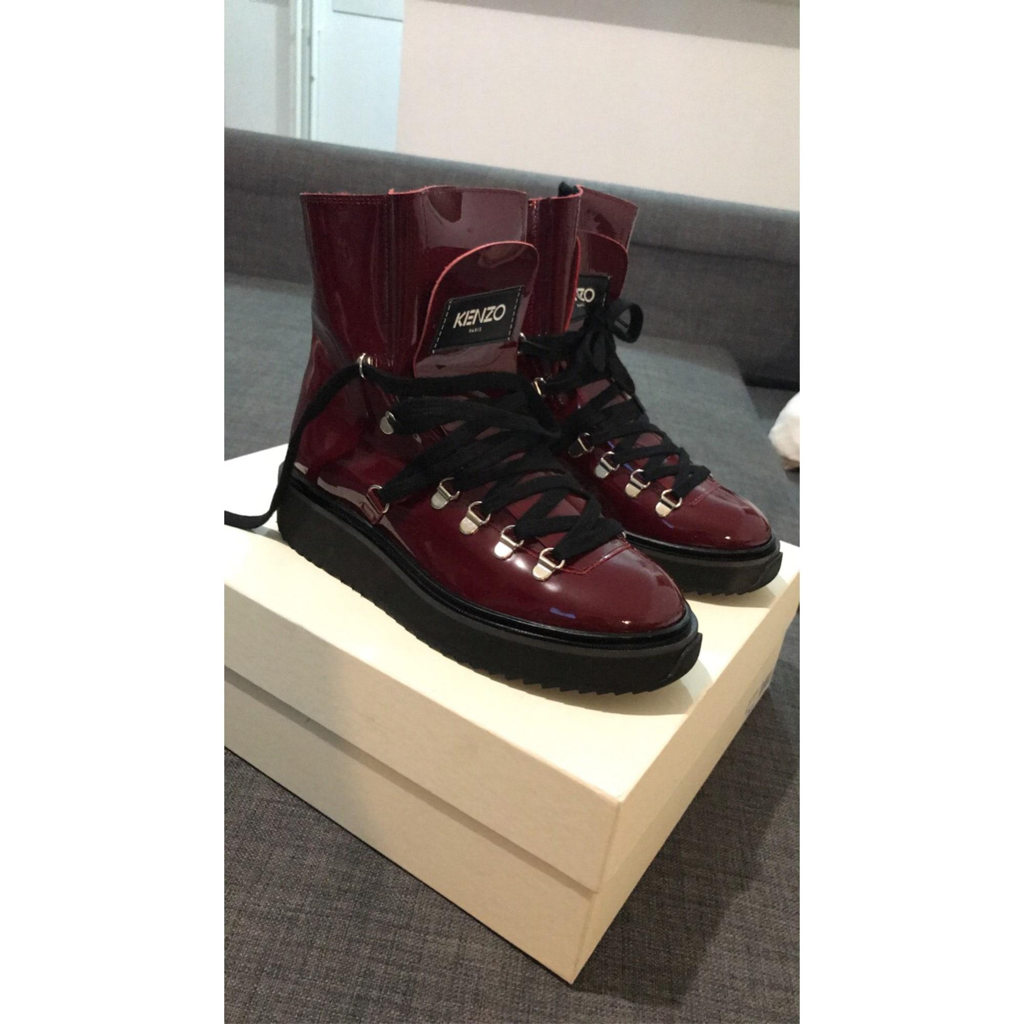 Bottines & low boots à compensés KENZO Rouge, bordeaux