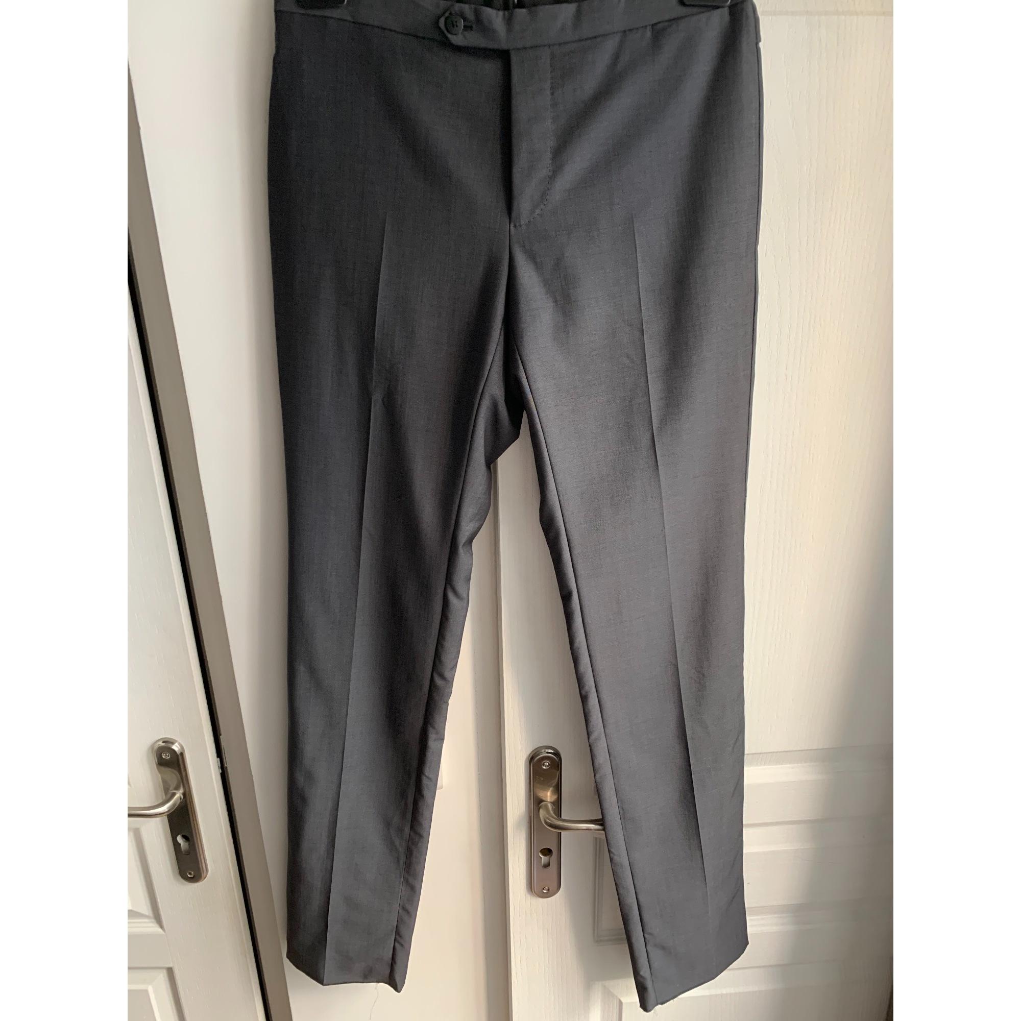 Pantalon slim LANVIN Gris, anthracite