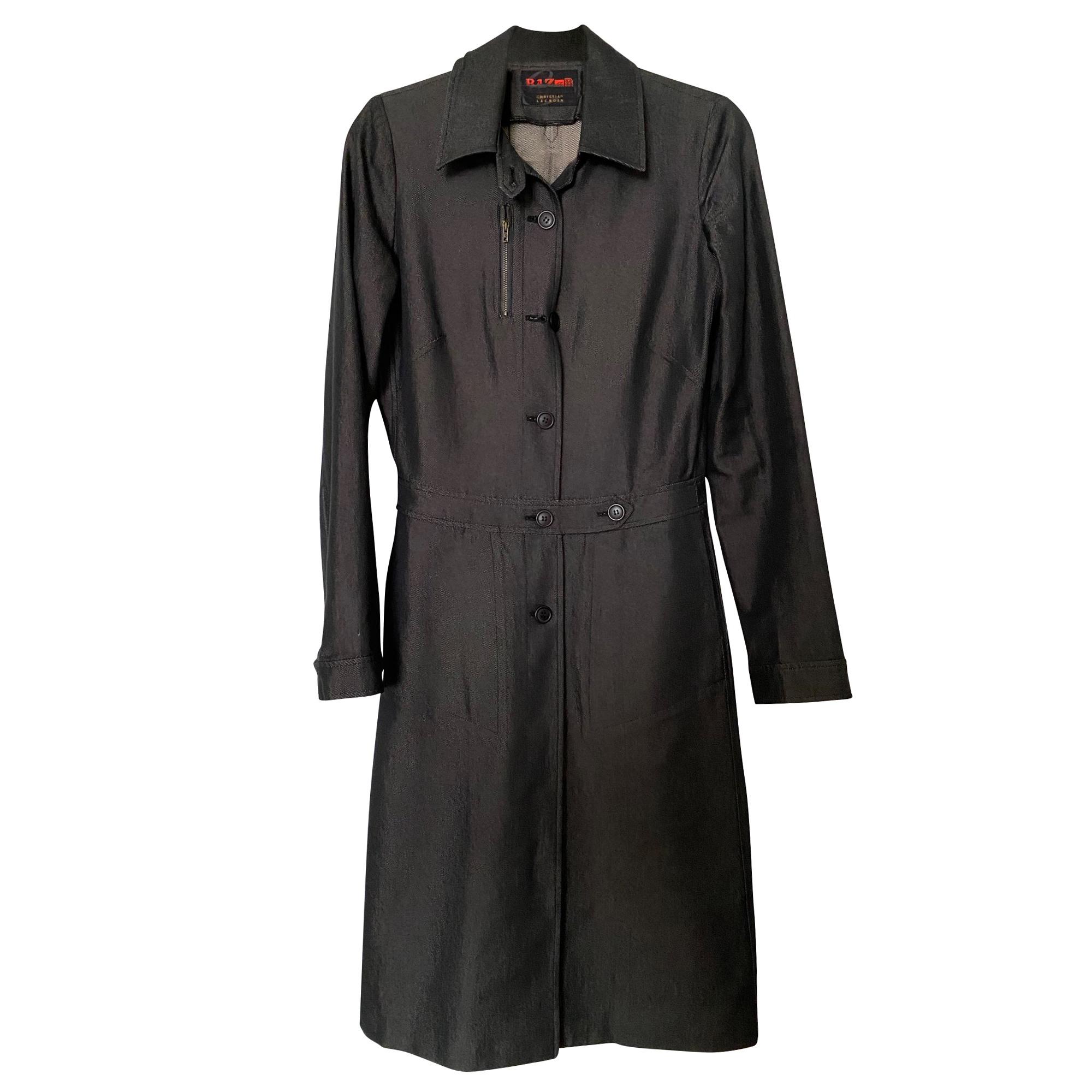 Manteau en jean CHRISTIAN LACROIX Noir irisré