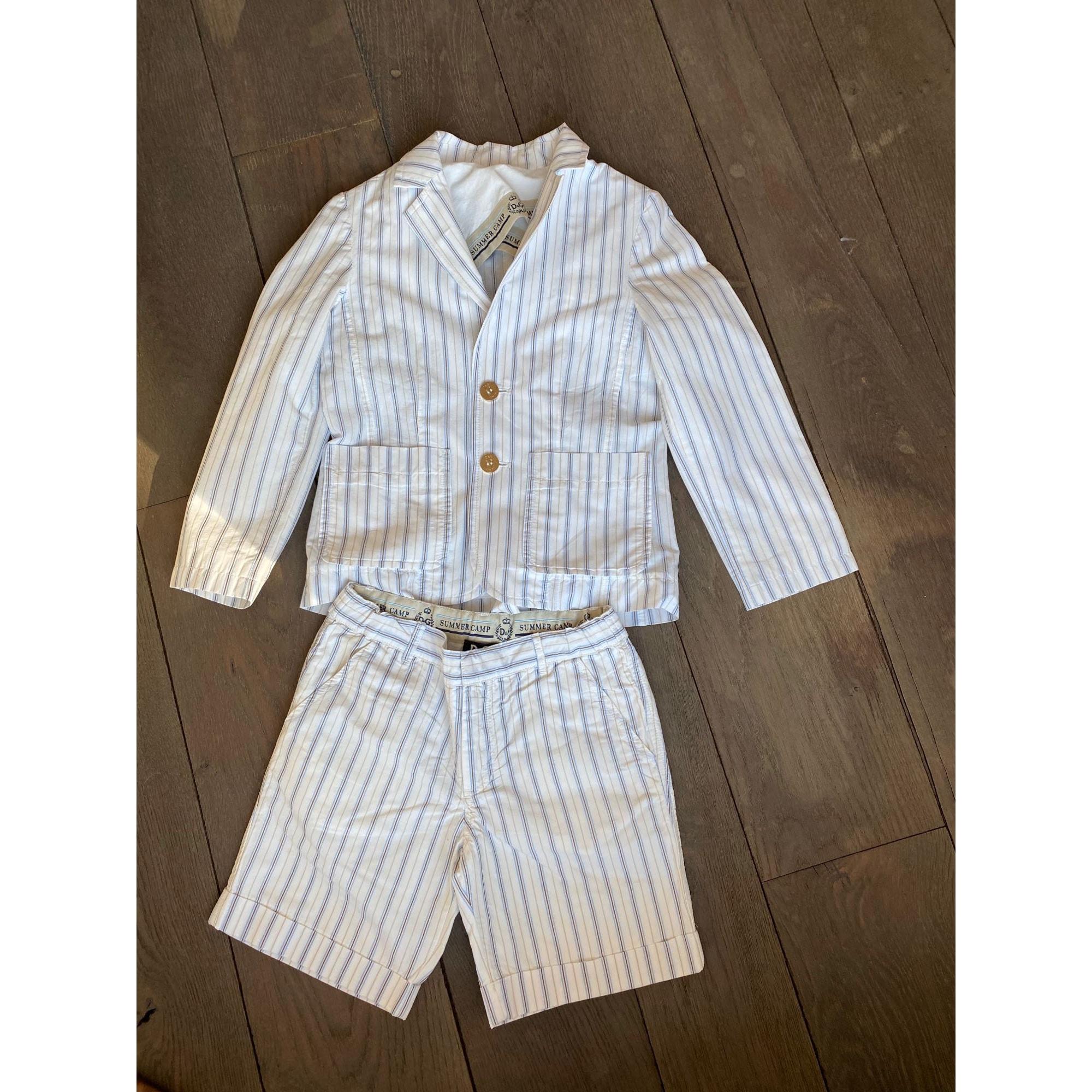 Anzug, Set für Kinder, kurz DOLCE & GABBANA Weiß, elfenbeinfarben