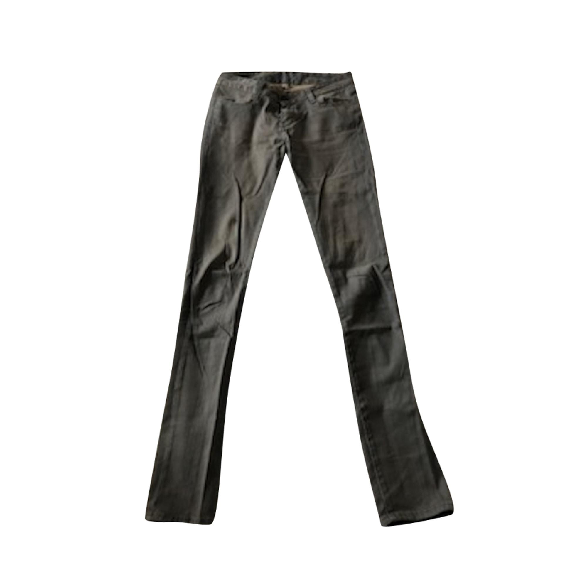 Jeans slim BA&SH Gris, anthracite