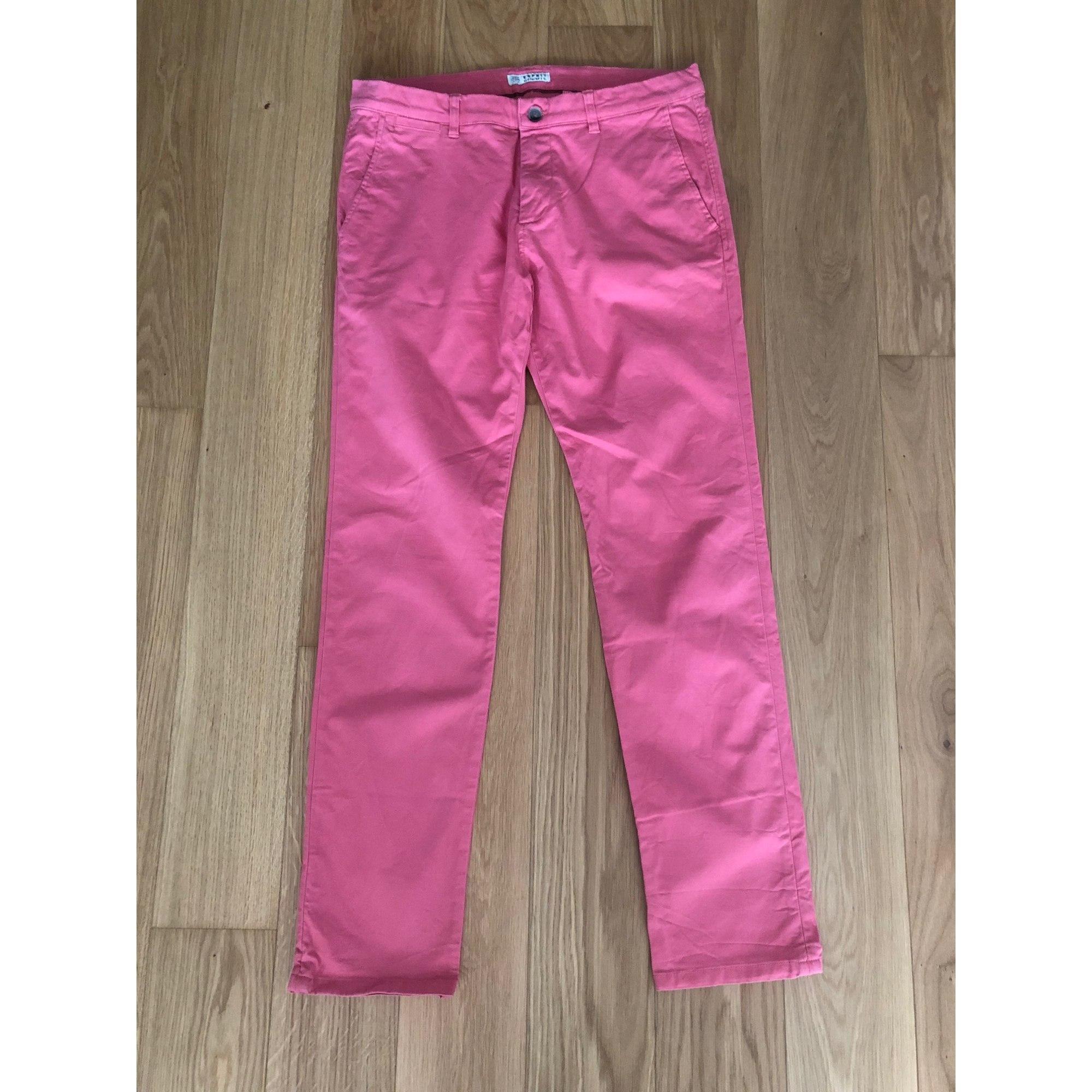 Pantalon droit ESPRIT Rose, fuschia, vieux rose